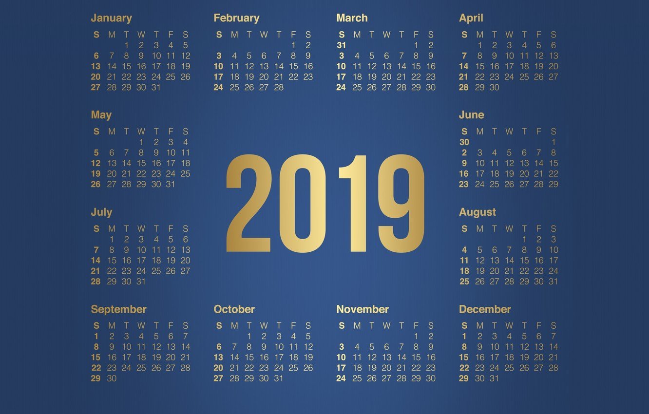 Wallpaper Minimalism, Background, Background, Calendar, A Month Calendar 2019 Wallpaper