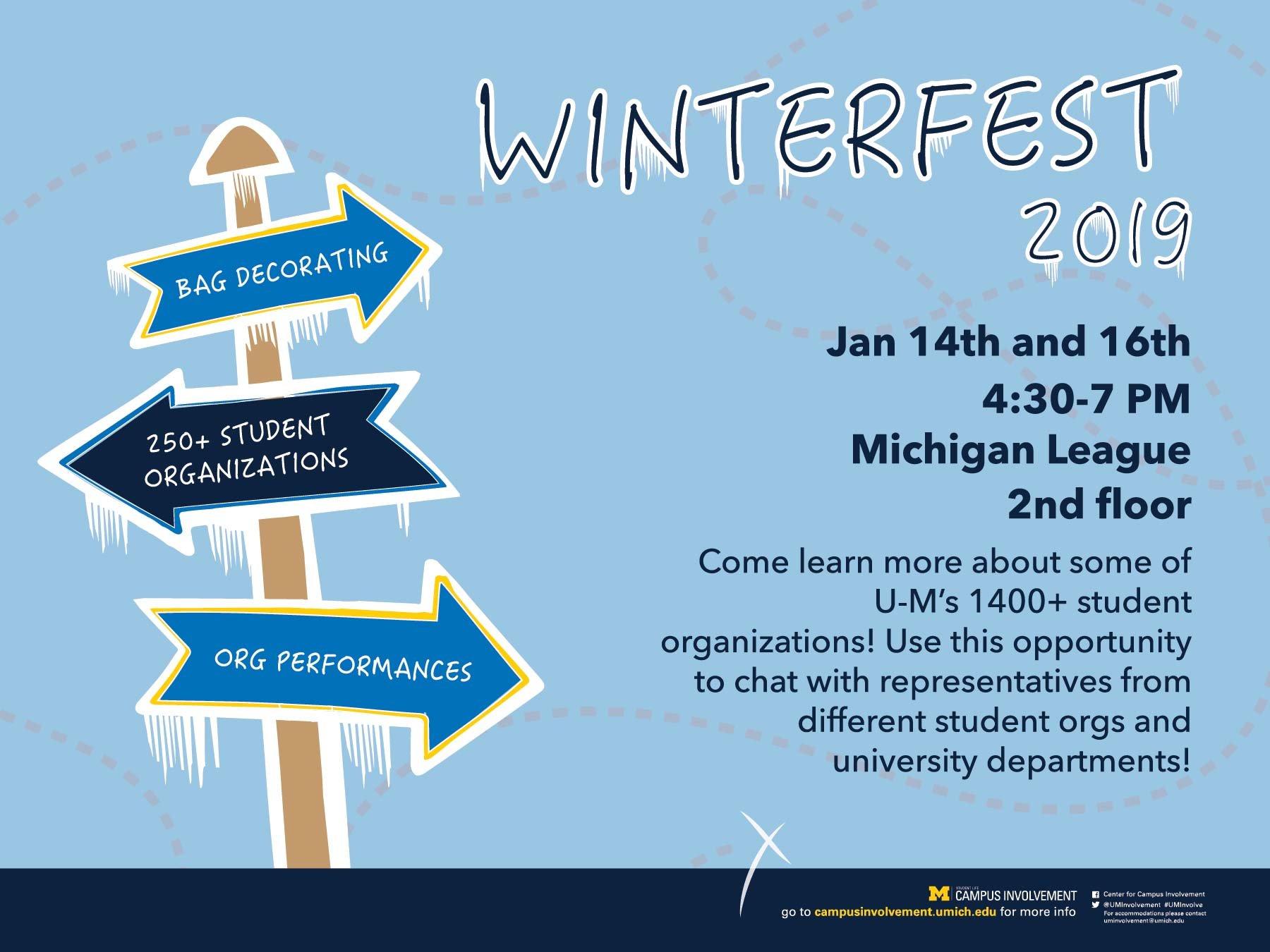 Winterfest 2019 | Campus Involvement U Michigan Calendar 2019