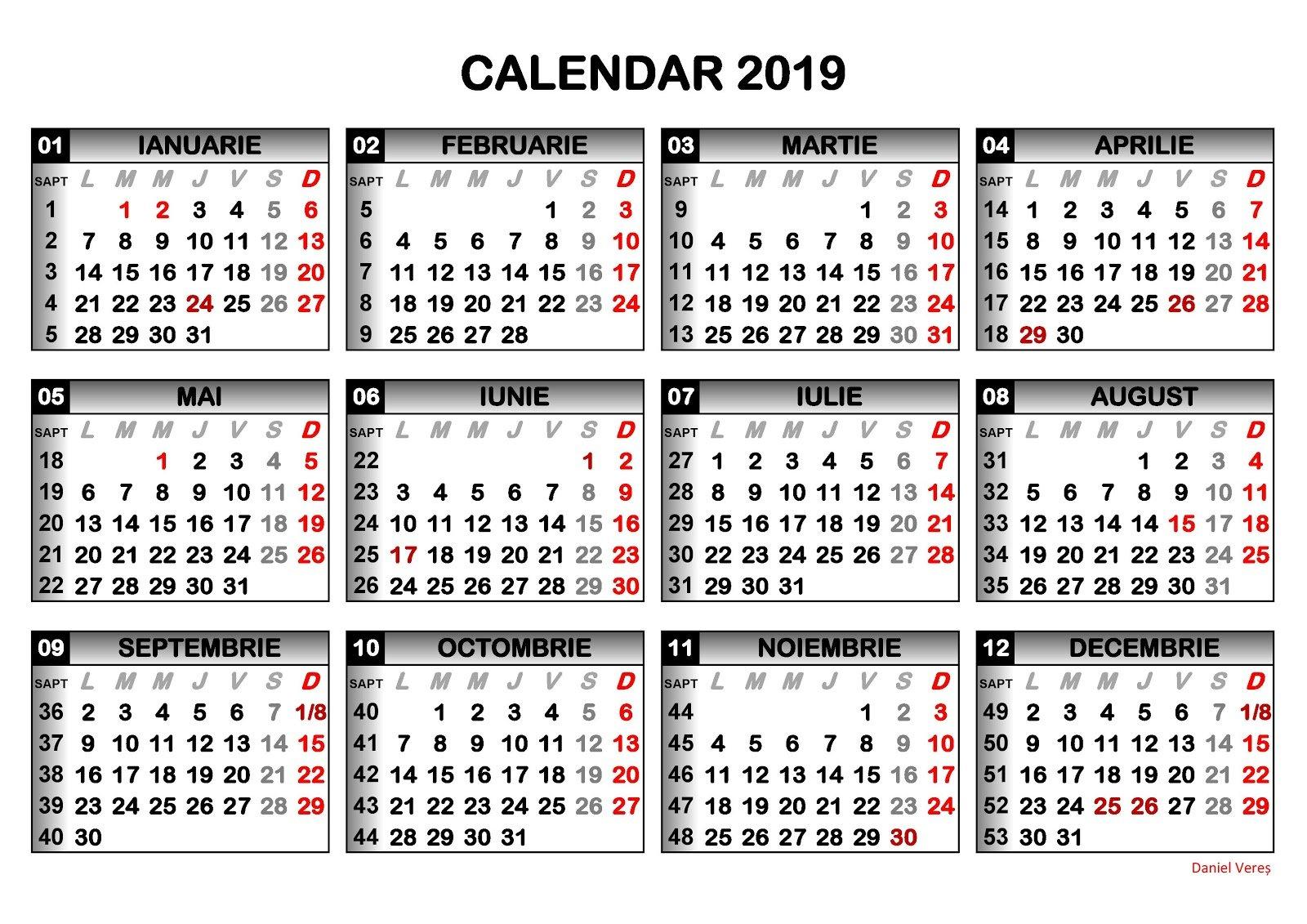 Ziar Piatra-Neamt Câte Zile Libere Ne Așteaptă În 2019 - Ziar Piatra Calendar 2019 Zile Libere