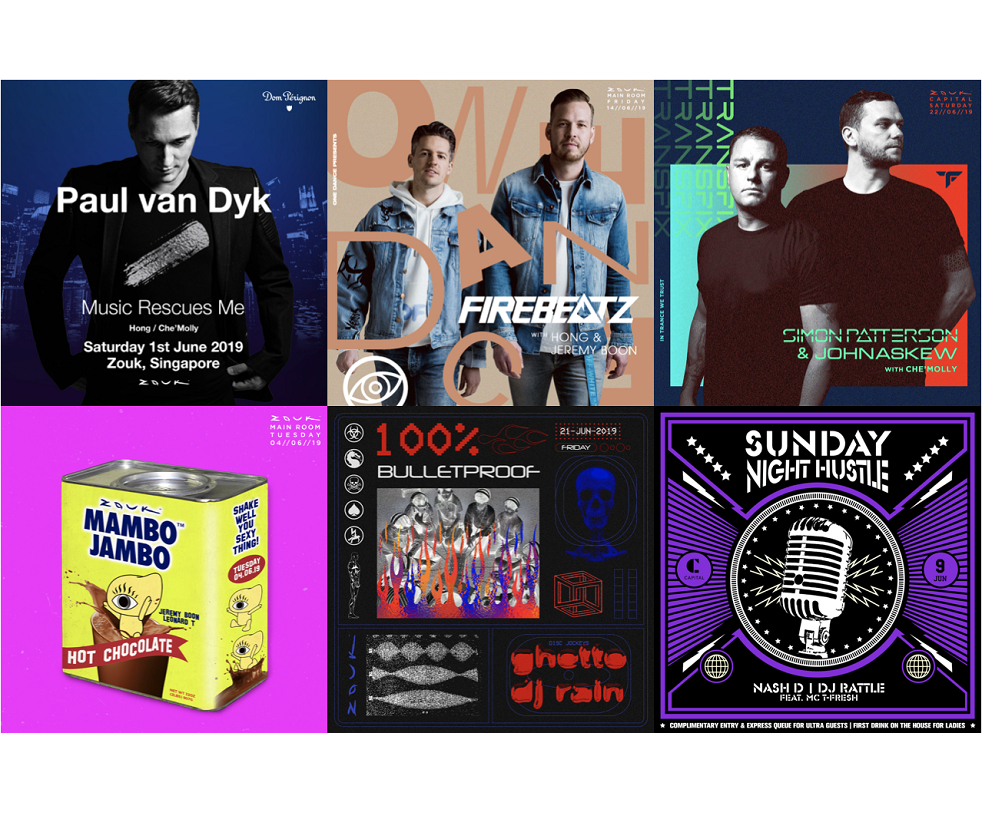 Zouk Singapore: June 2019 Highlights & Calendar | Capitaland Malls Zouk Calendar 2019