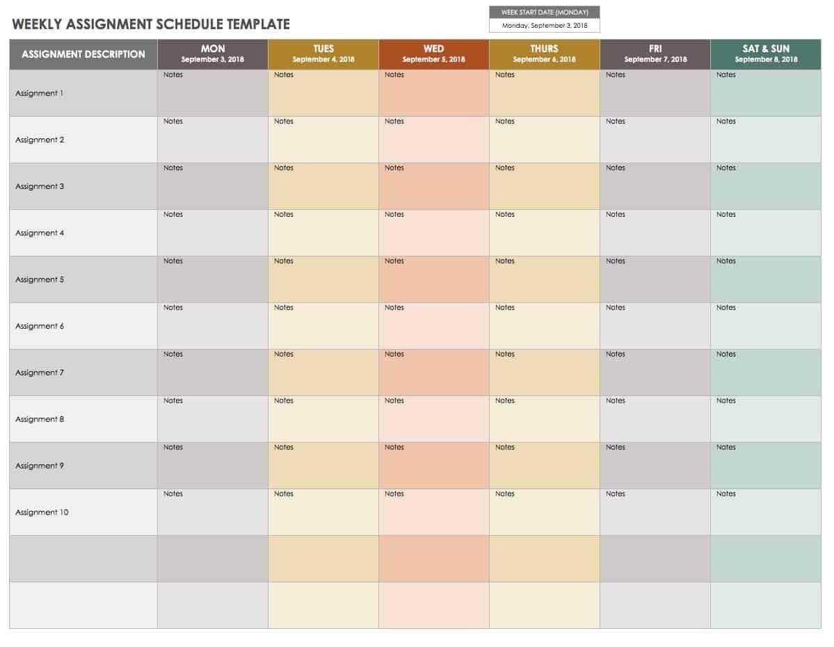 15 Free Weekly Calendar Templates | Smartsheet-Blank 8 Week Blank 8 Week Calendar Printable