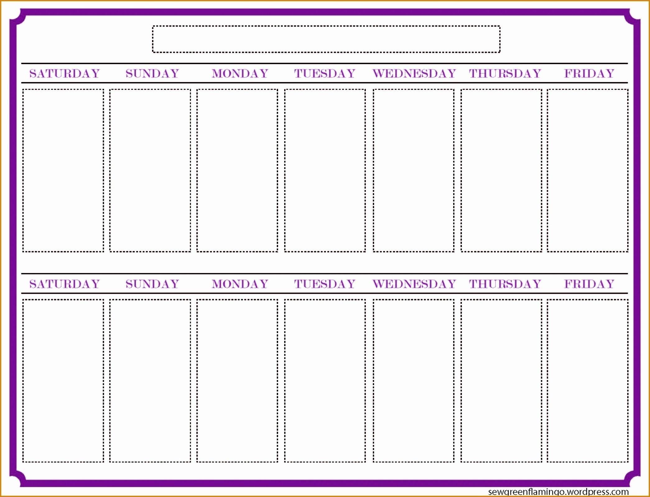 2 Week Blank Calendar Printable – Template Calendar Design Free Printable Task Two Week Calendar