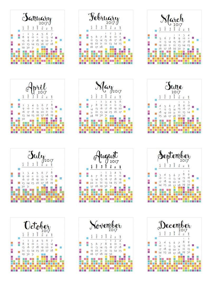 2017 Tear-Off Calendars (With Images) | Calendar Printables Printable Tear Off Calendar