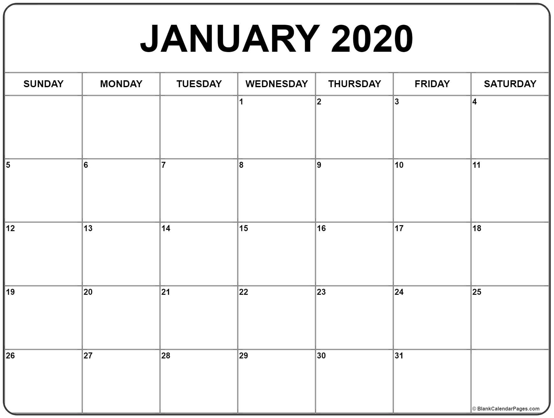 2020 Free Printable 8.5 X11 Monthly Calendars | Calendar 5 X 8 Free Printable Calendars