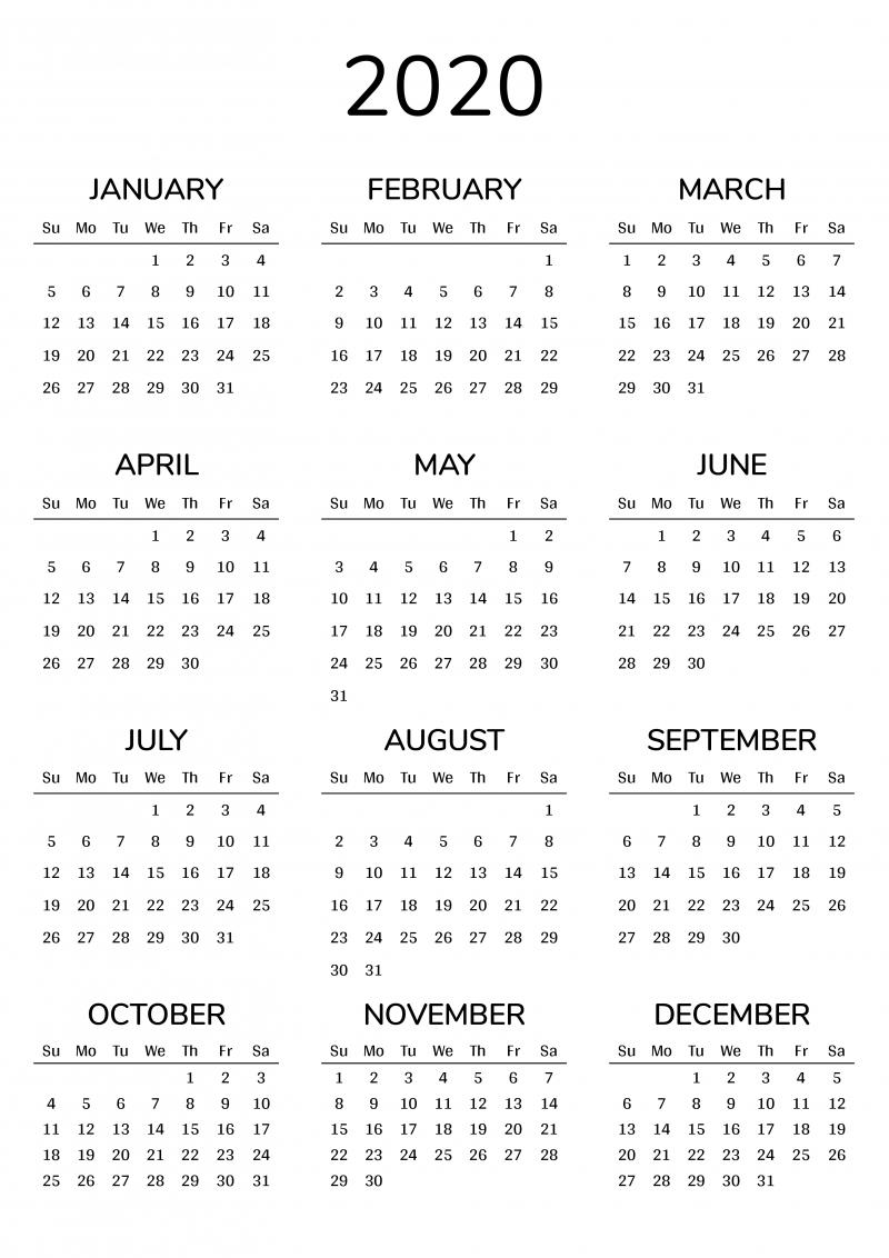 2020 Printable Calendar 8 1/2 X 11 Printable May Calendar