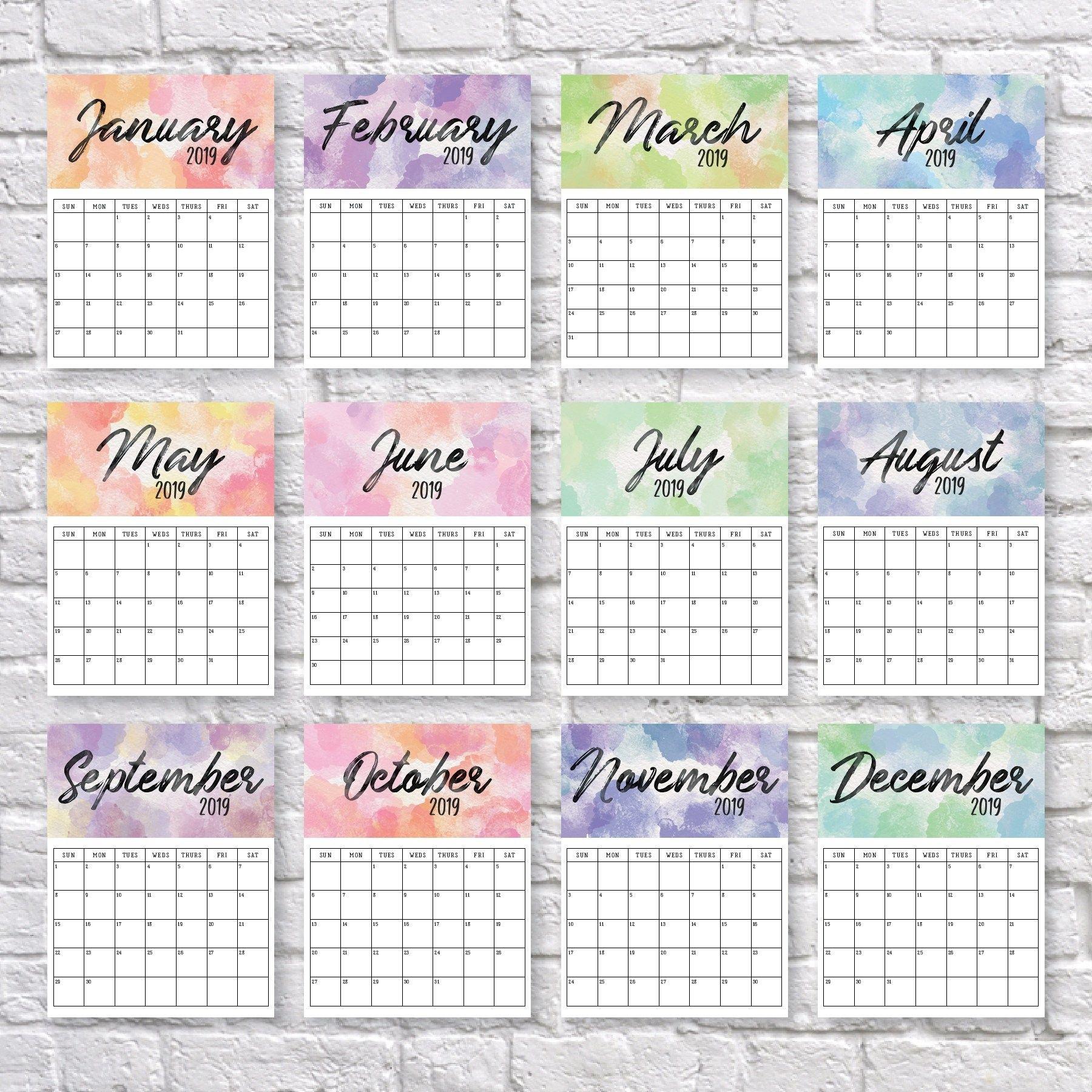 2020 Printable Calendar | Календарь Для Печати, Календарь 5.5 X 8.5 Inch Calendar