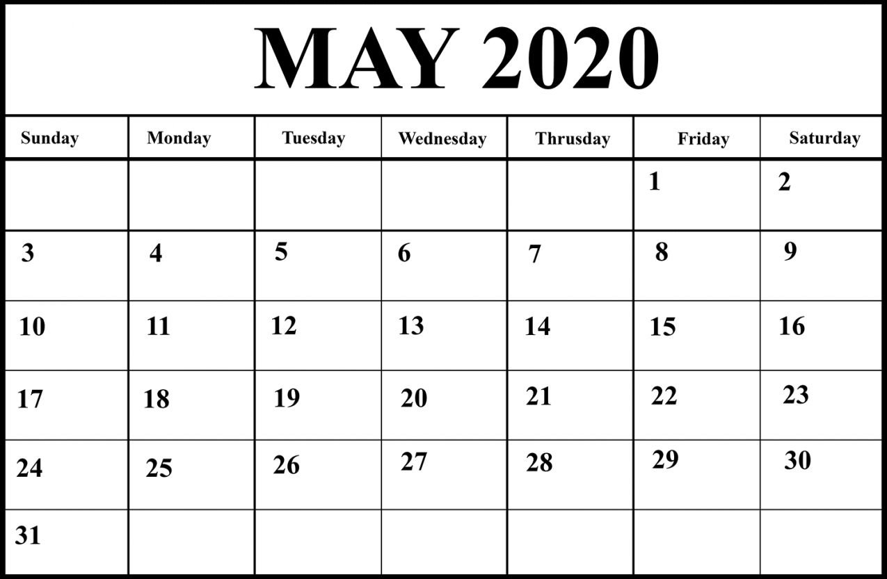 2020 Word Printable Calendar In 2020 (With Images Free Calendars You Can Edit