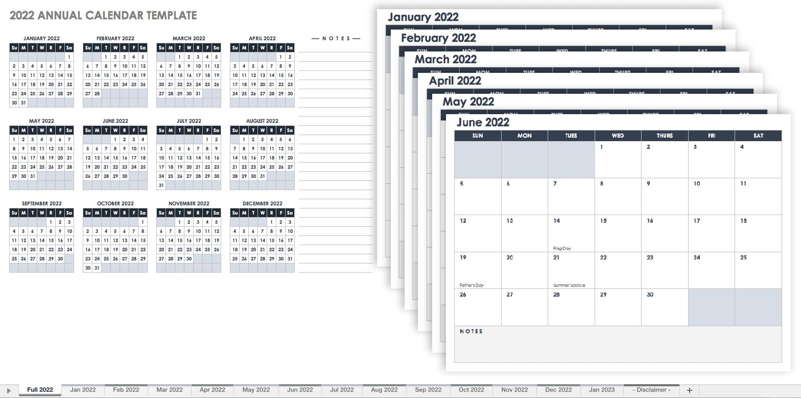 28 Free Time Management Worksheets | Smartsheet 6 Month Short Timer Calandr