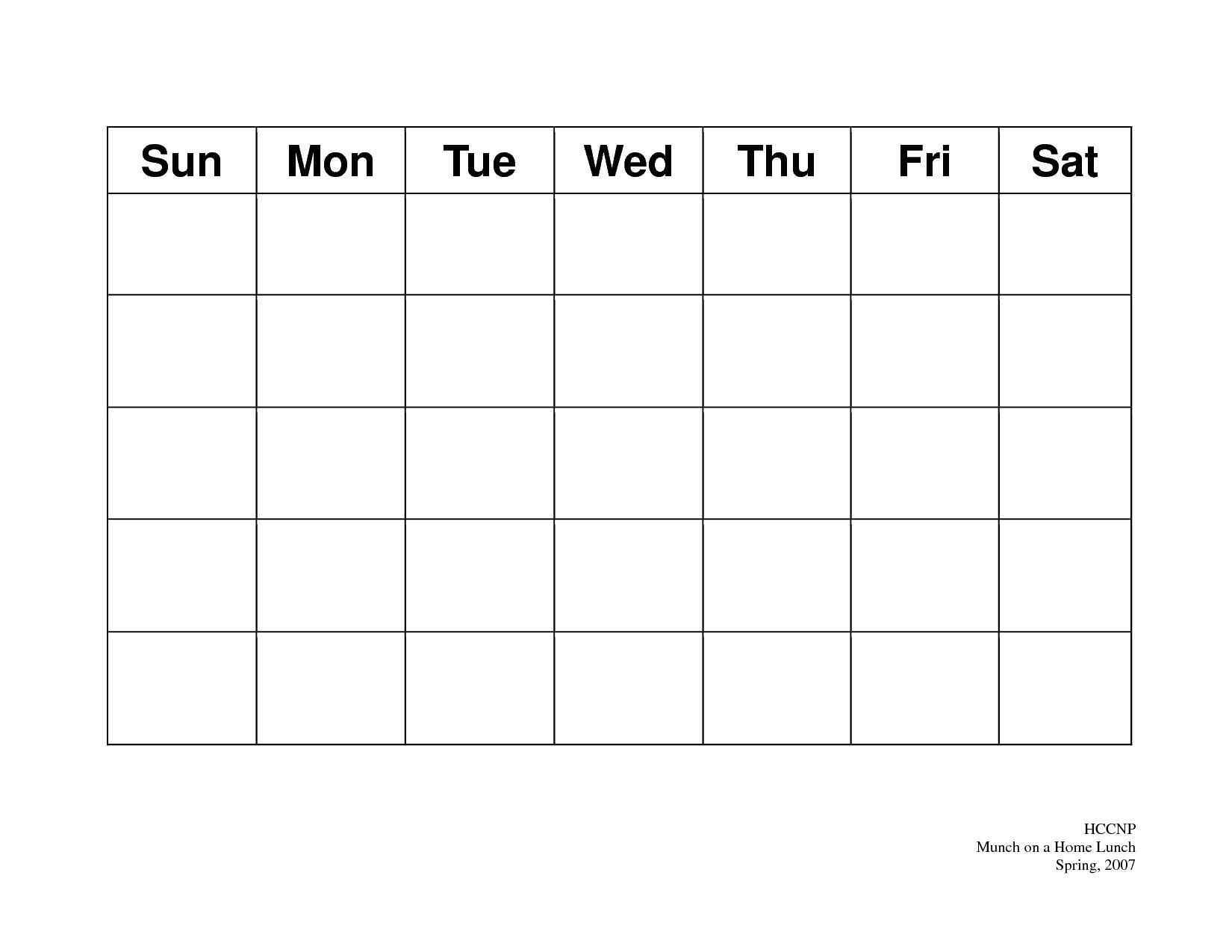 31 Day Blank Calendar Template | Ten Wall Calendar-Blank Blank 31 Day Calendar Where You Can