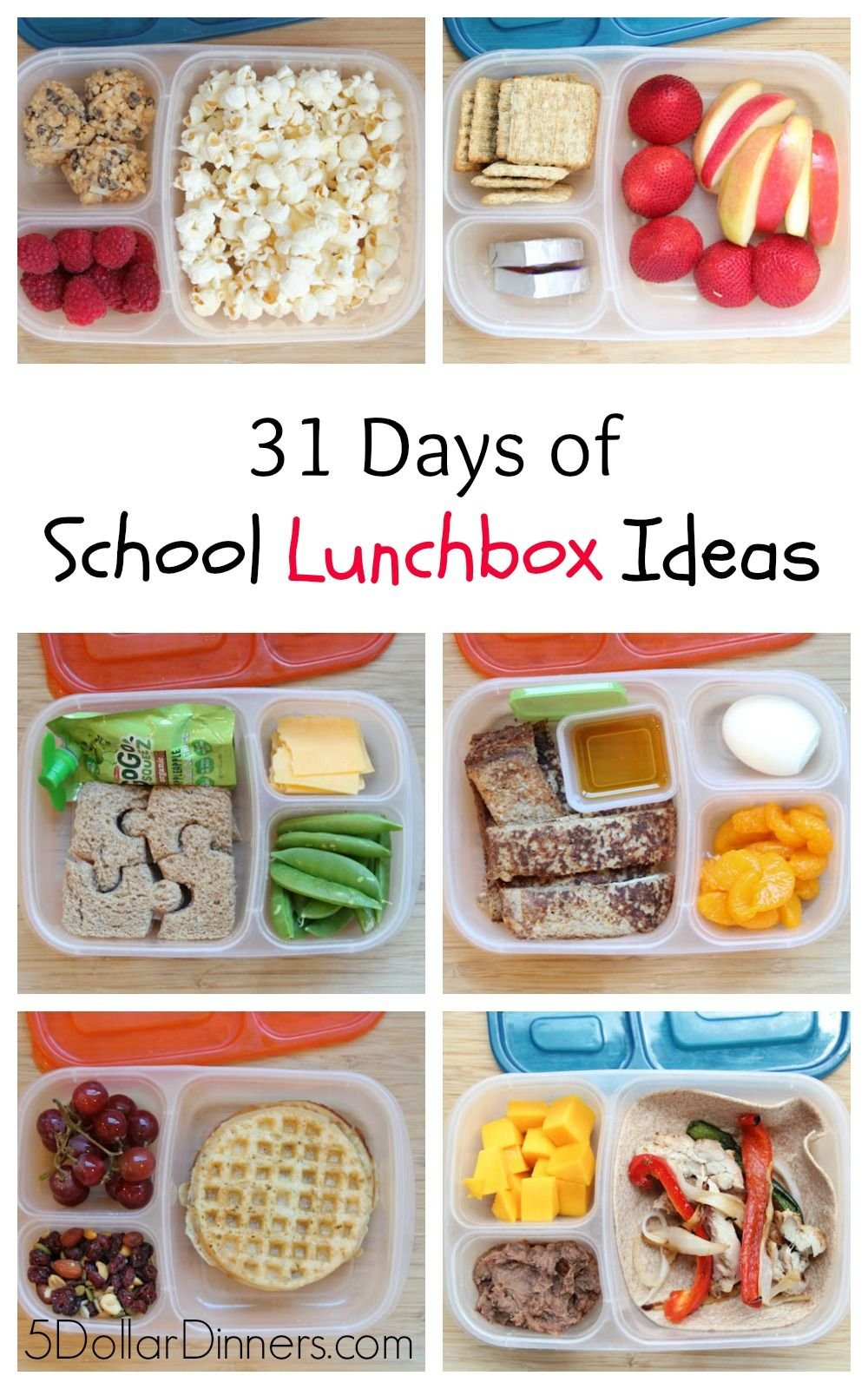 31 Days Of School Lunchbox Ideas | Здоровое Питание, Еда Image Box Of 31 Days