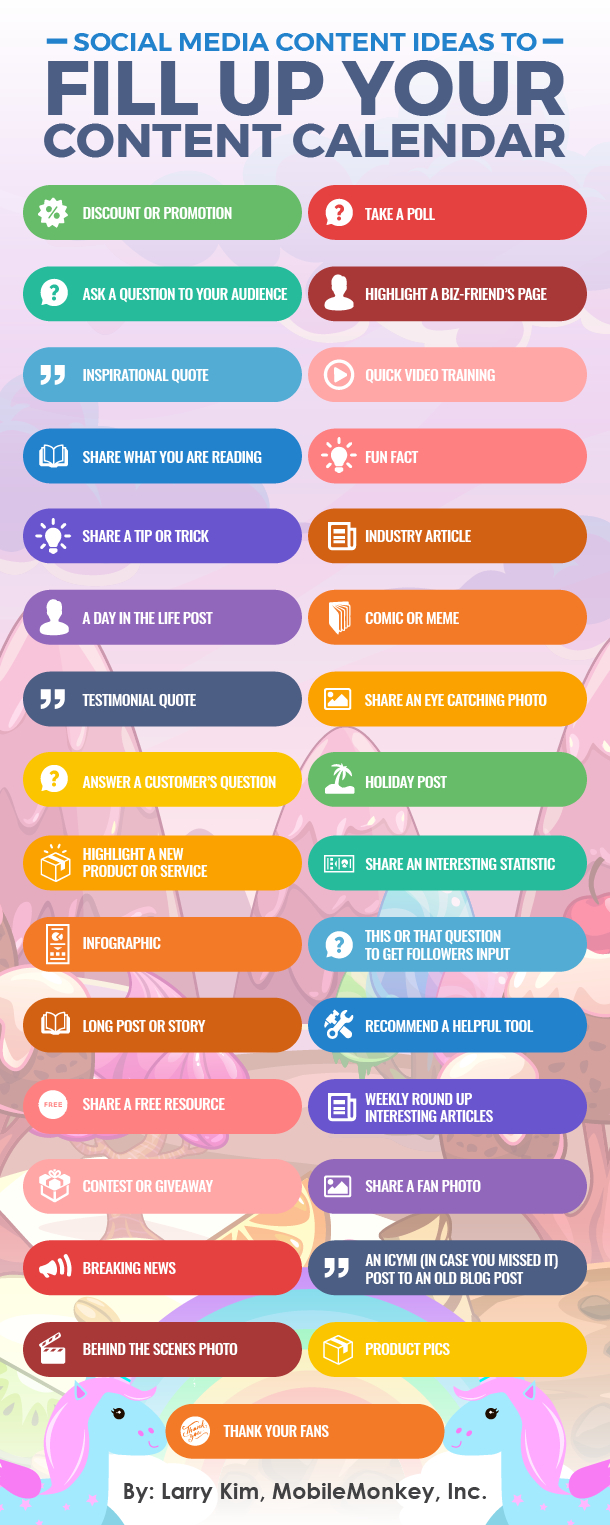 31 Social Media Content Ideas To Fill Up Your Content Calendar Calendar I Can Fill Out