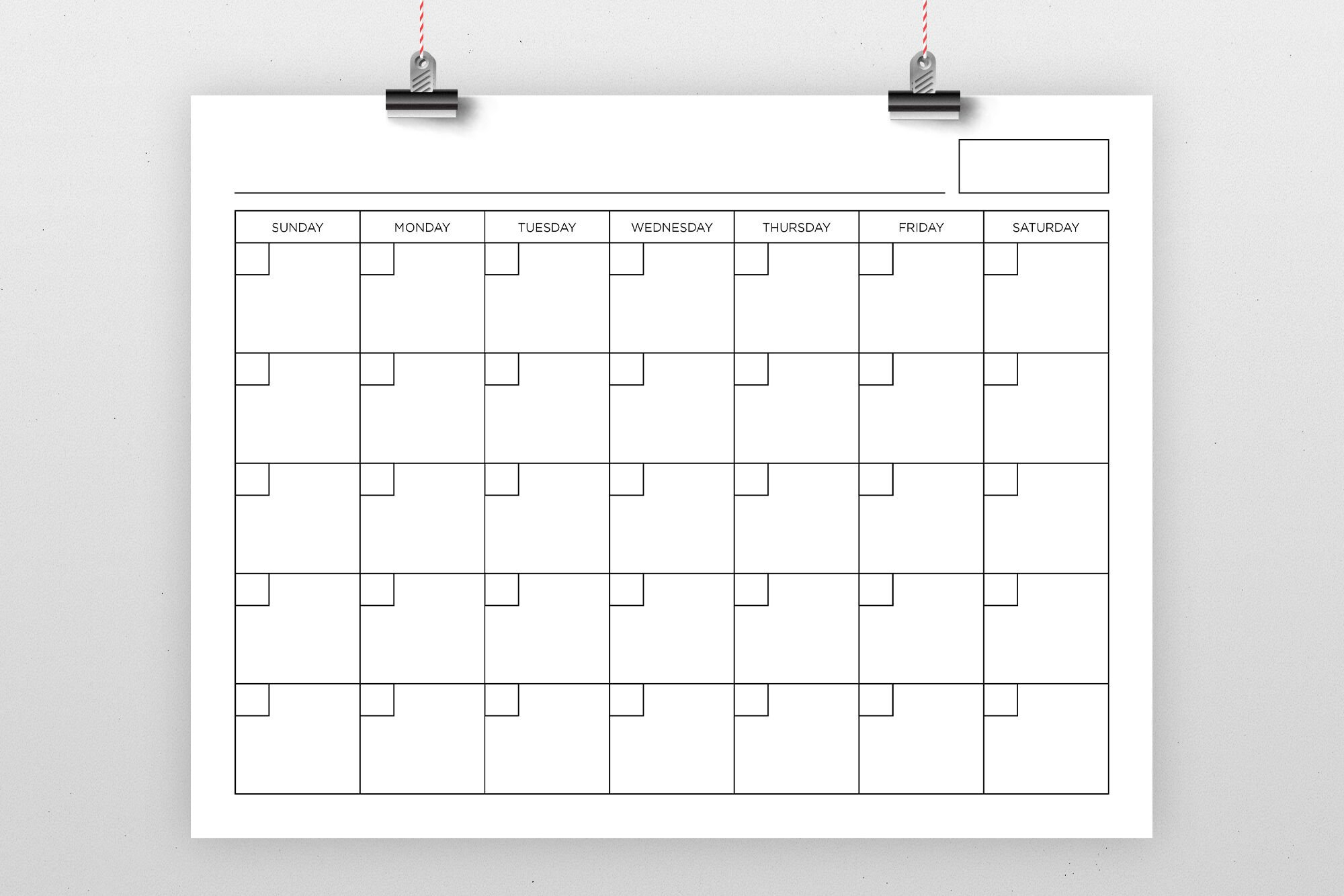 8.5 X 11 Inch Blank Calendar Page Templaterunning With Monday Through Friday 8-5 Calendar
