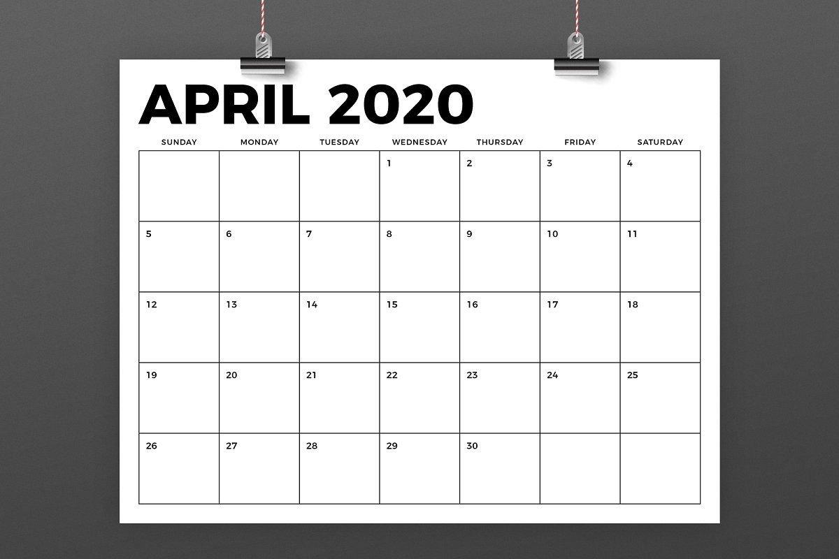 8.5 X 11 Inch Bold 2020 Calendar 8.5 X 14 Calendar