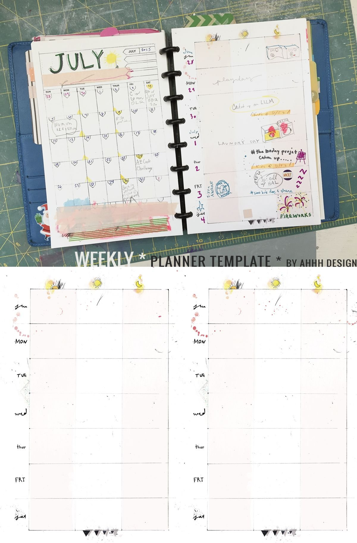 A Messy Week | Planner Template, Daily Planner Diy, Diy Planner Daily Planner Printable Editable Free 8.5 X 5.5