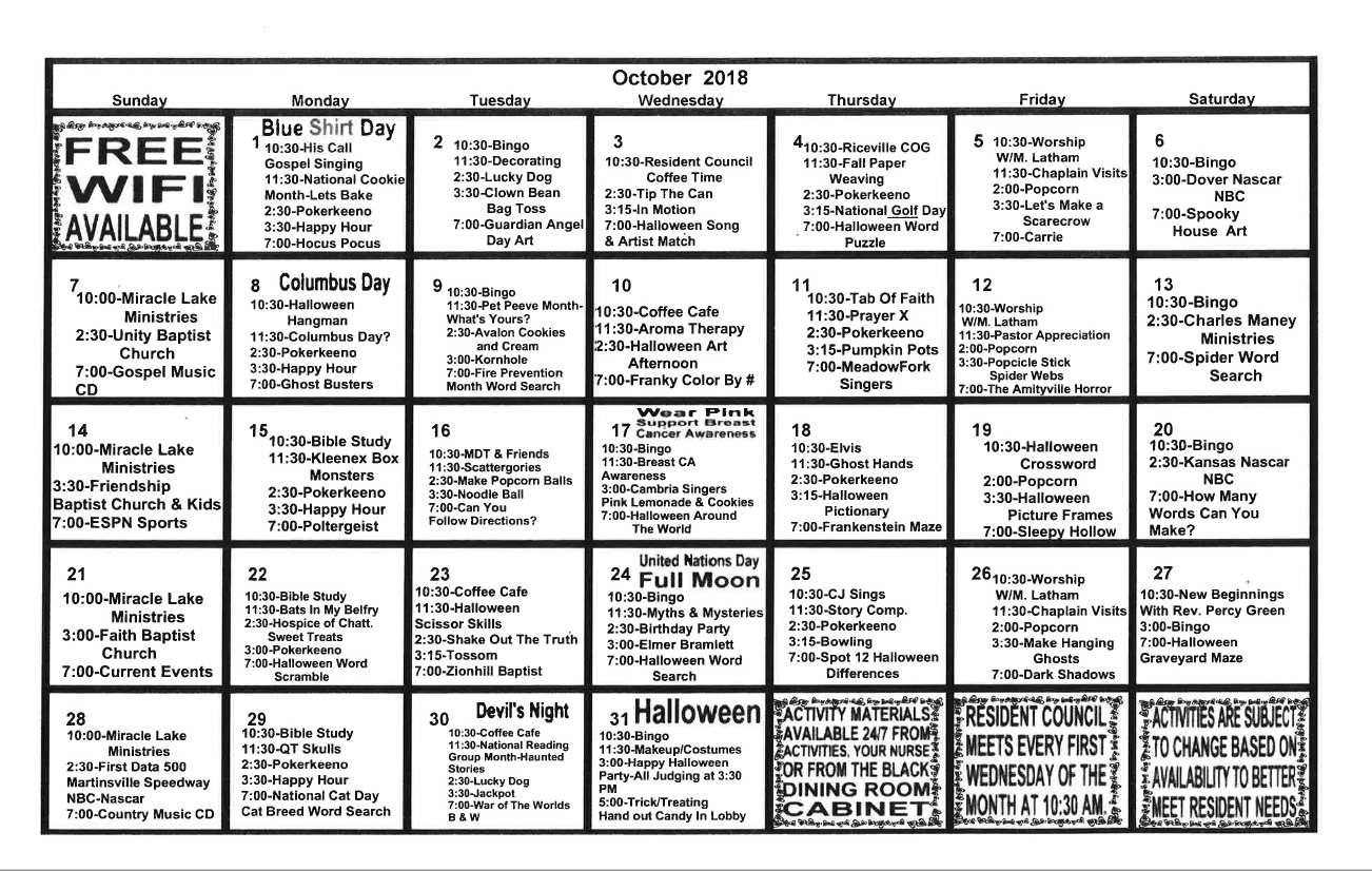 Activities Calendar Calendar Three Monsts Temple