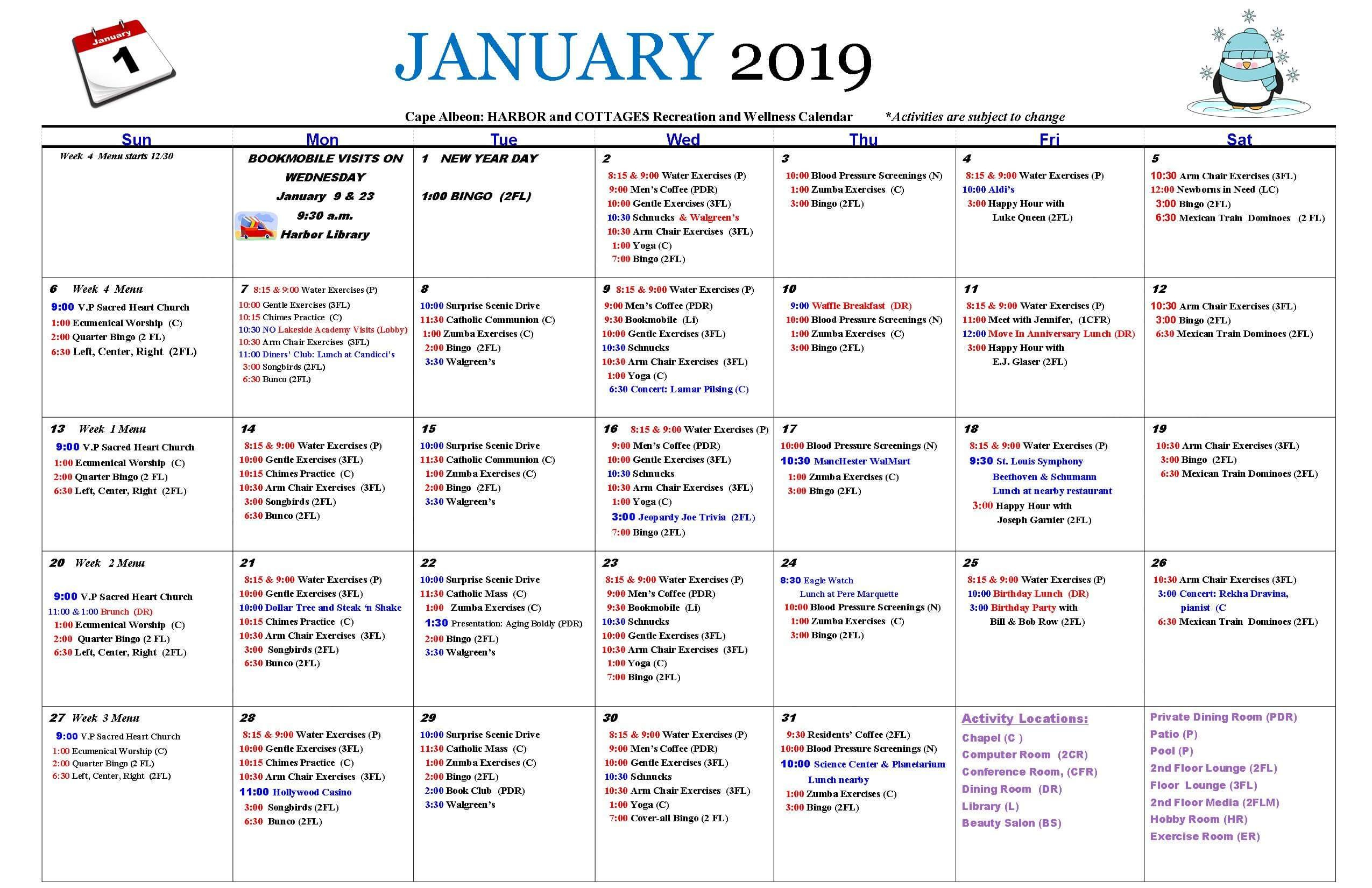 Activities & Events - Life At Cape Albeon | Cape Albeon Calendar Three Monsts Temple