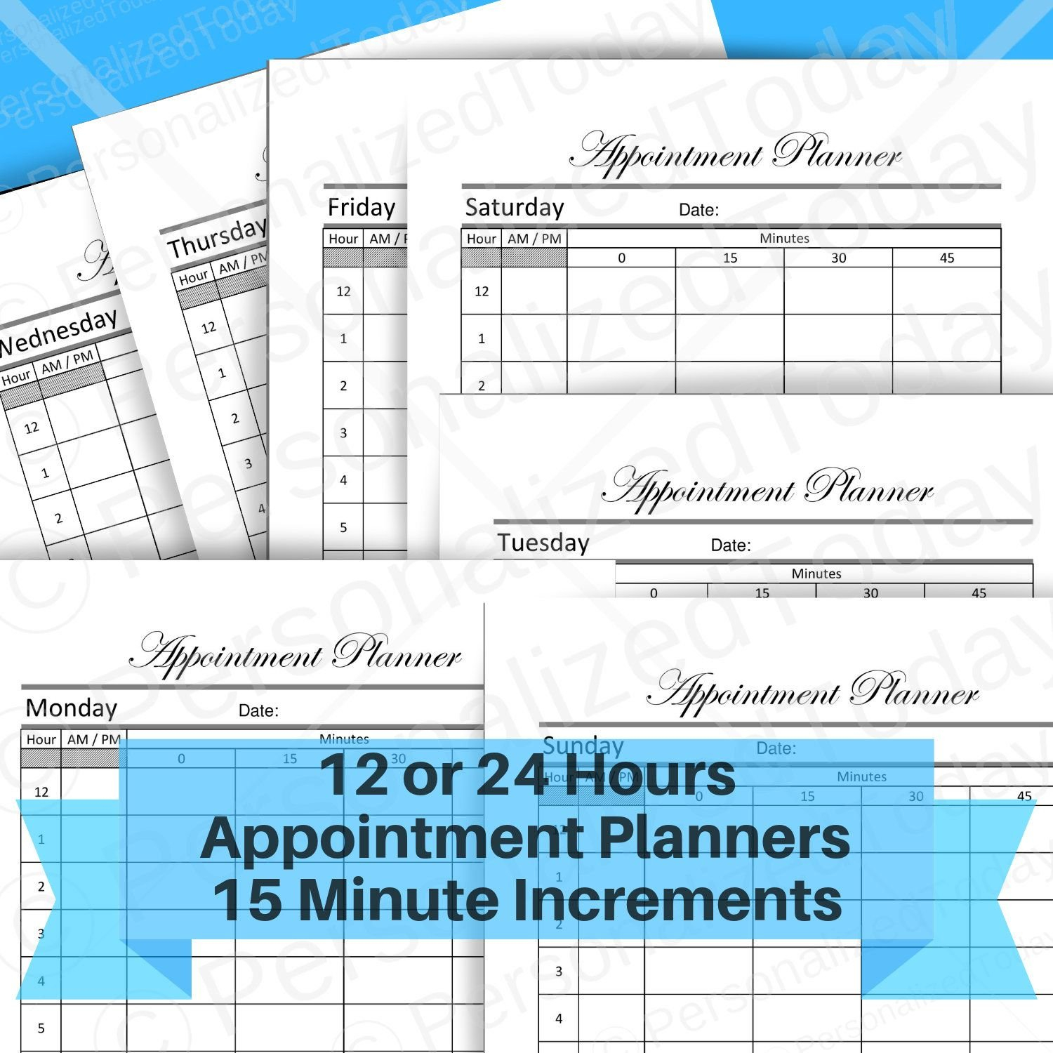 Appointment Booking Printable 15 Minute Time Slots Schedule Clear Calendar Template With Slots For Time