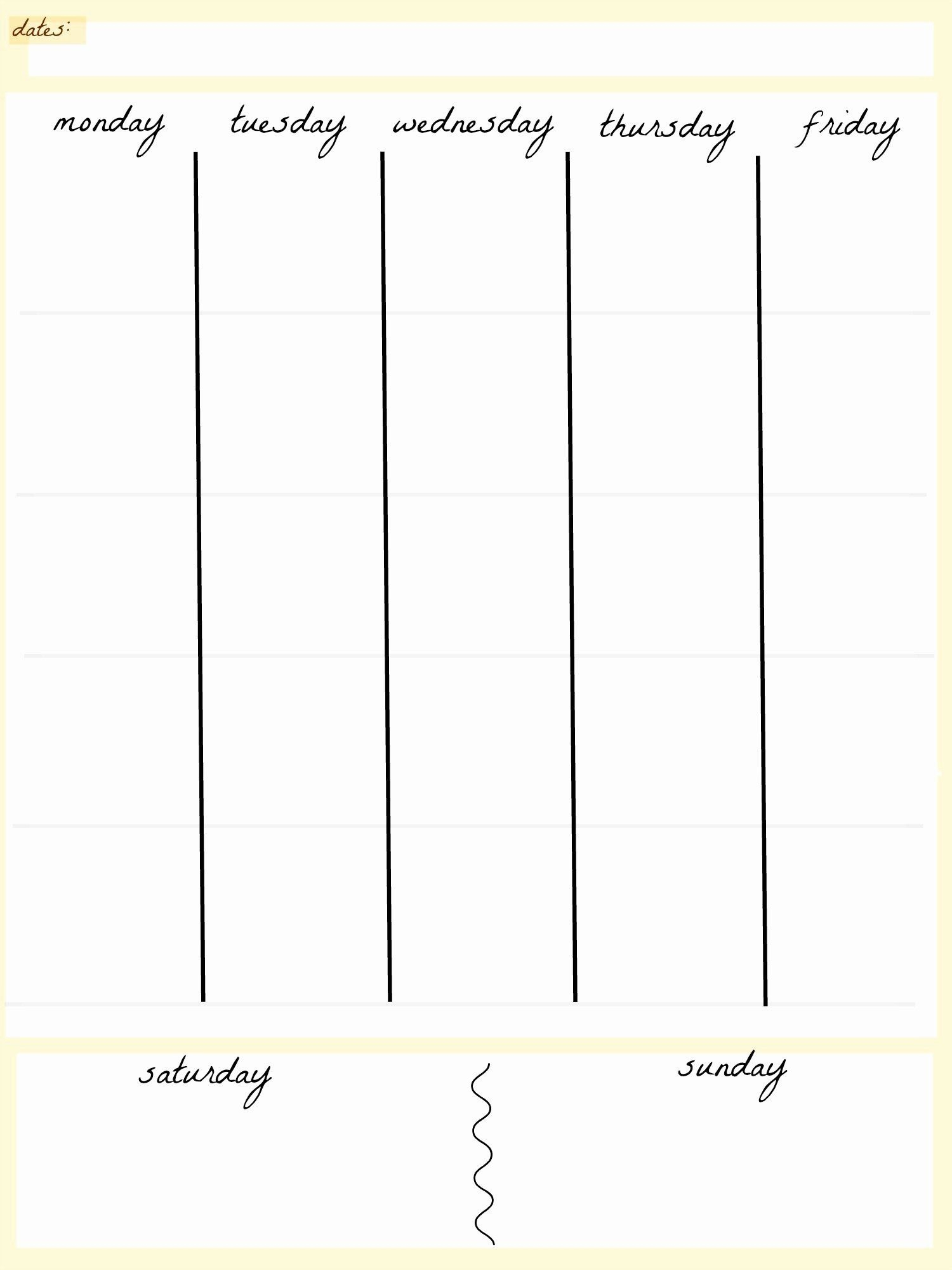 Awesome 5 Day Schedule Template In 2020 | Weekly Calendar 5 Day Calendar Template