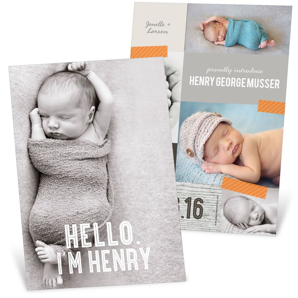 Baby Birth Announcements Guess Baby Birth Details