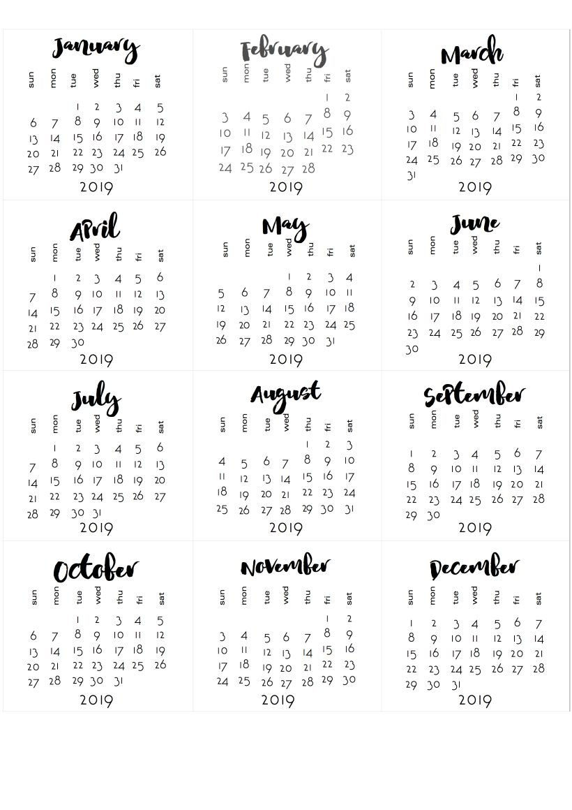 Been A While… Tear Off Calendars For 2019 | Календарь Для Printable Tear Off Calendar