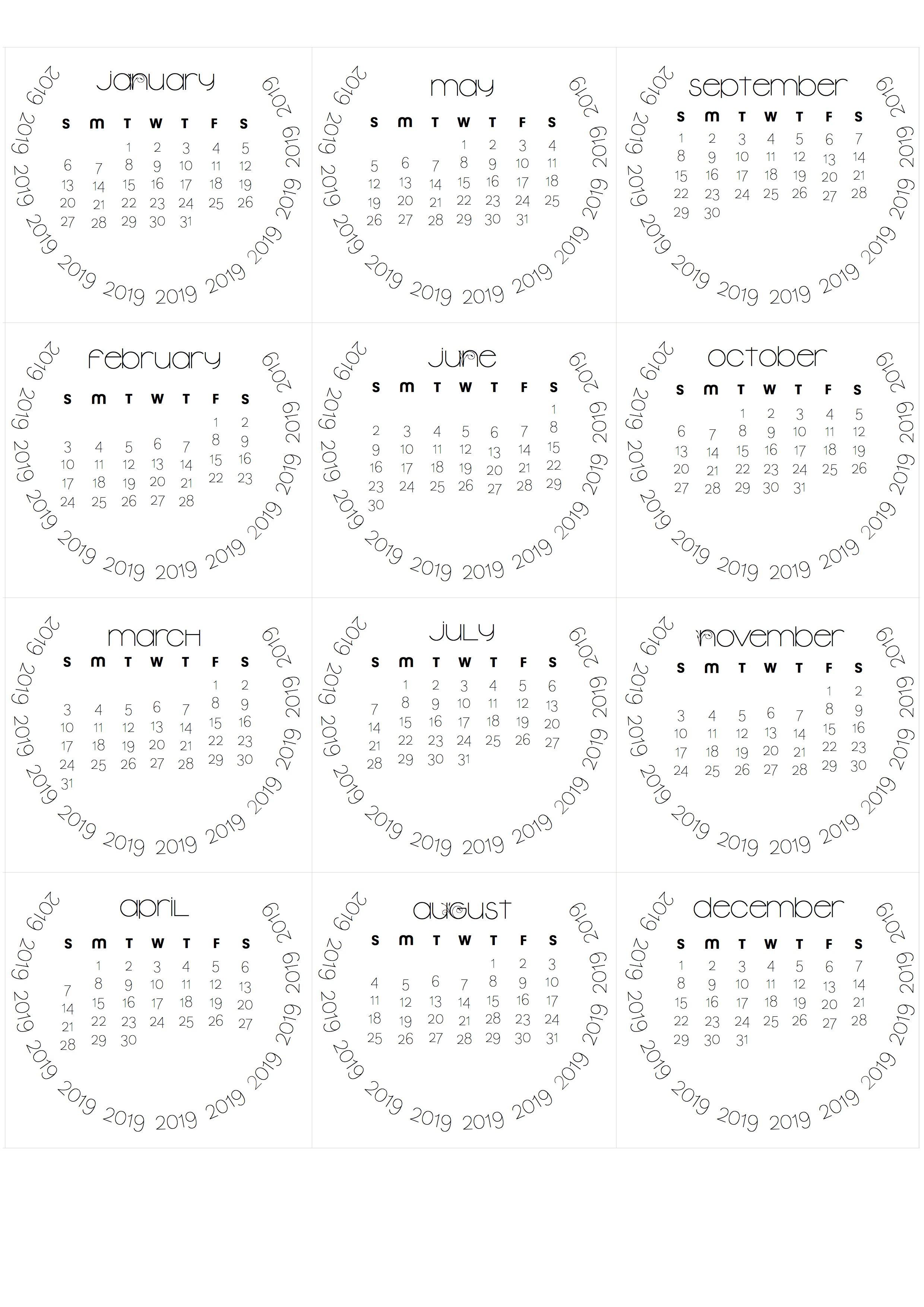 Been A While… Tear Off Calendars For 2019 Printable Tear Off Calendar