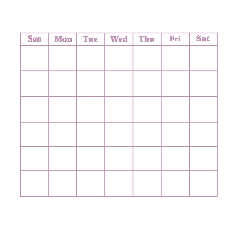 Blank 31 Day Calendar | Calendar Template 2019-31 Days 31 Day Calendar Printable