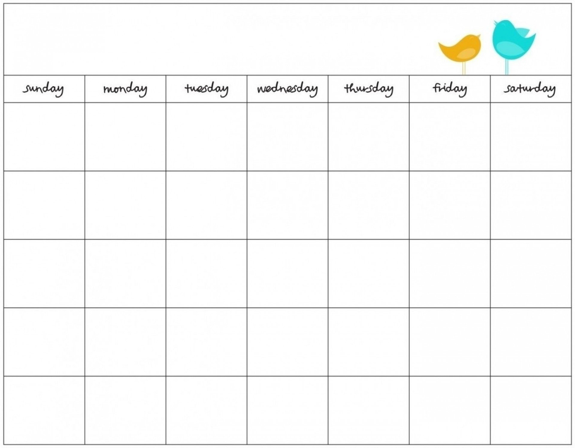 Blank 7 Day Calendar To Print | Free Calendar Template Example 7 Day Schedule Template Blank