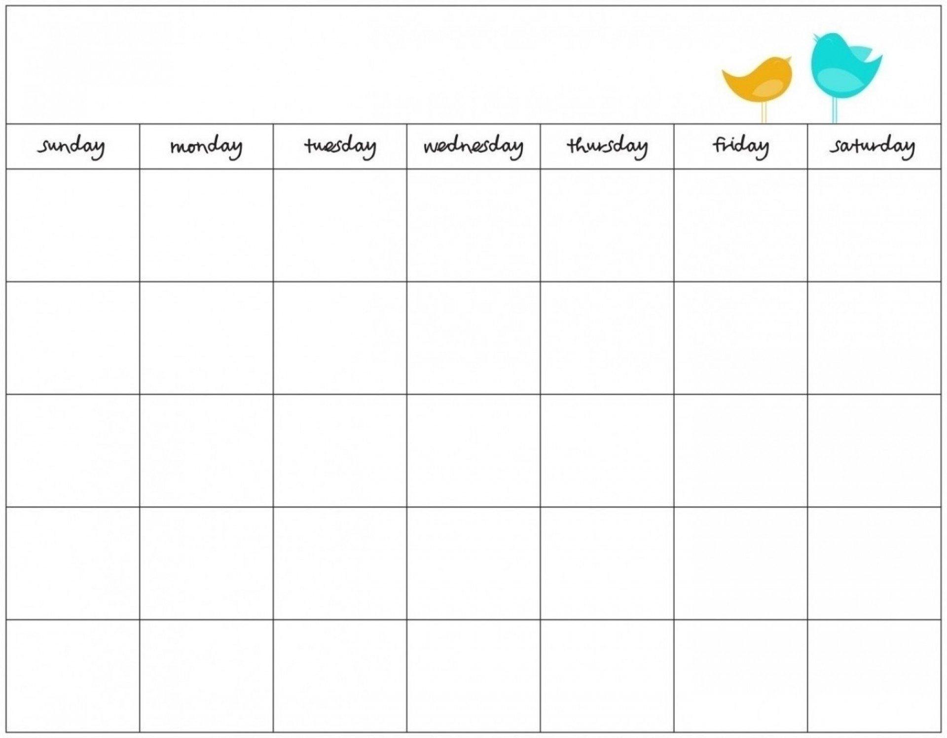 Blank 7 Day Calendar To Print | Free Calendar Template Example Blank 7 Day Calendar Template