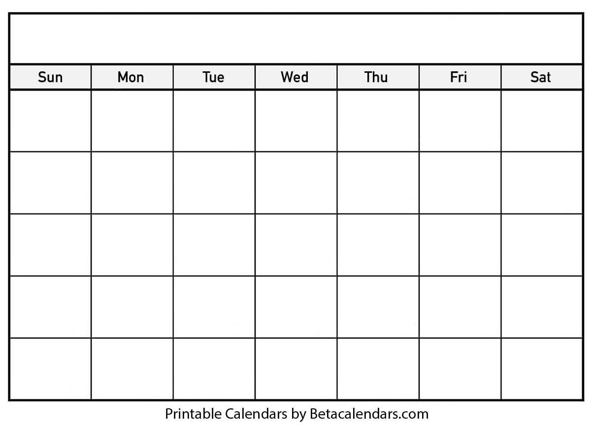 Blank Calendar - Beta Calendars How Can I Print Calendar To Fill In