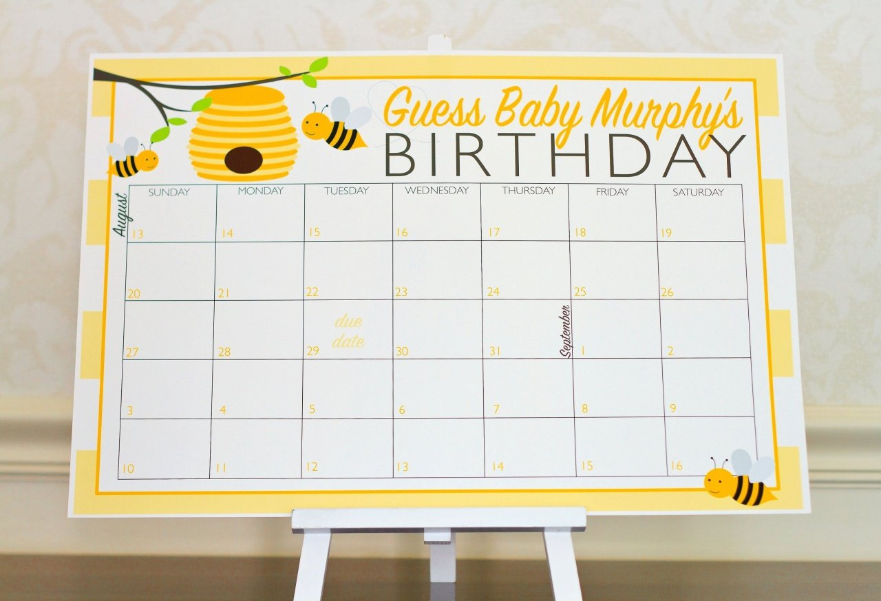 Bumble Bee Nursery Decor – Nursery Ideas Guess The Due Date Calendar