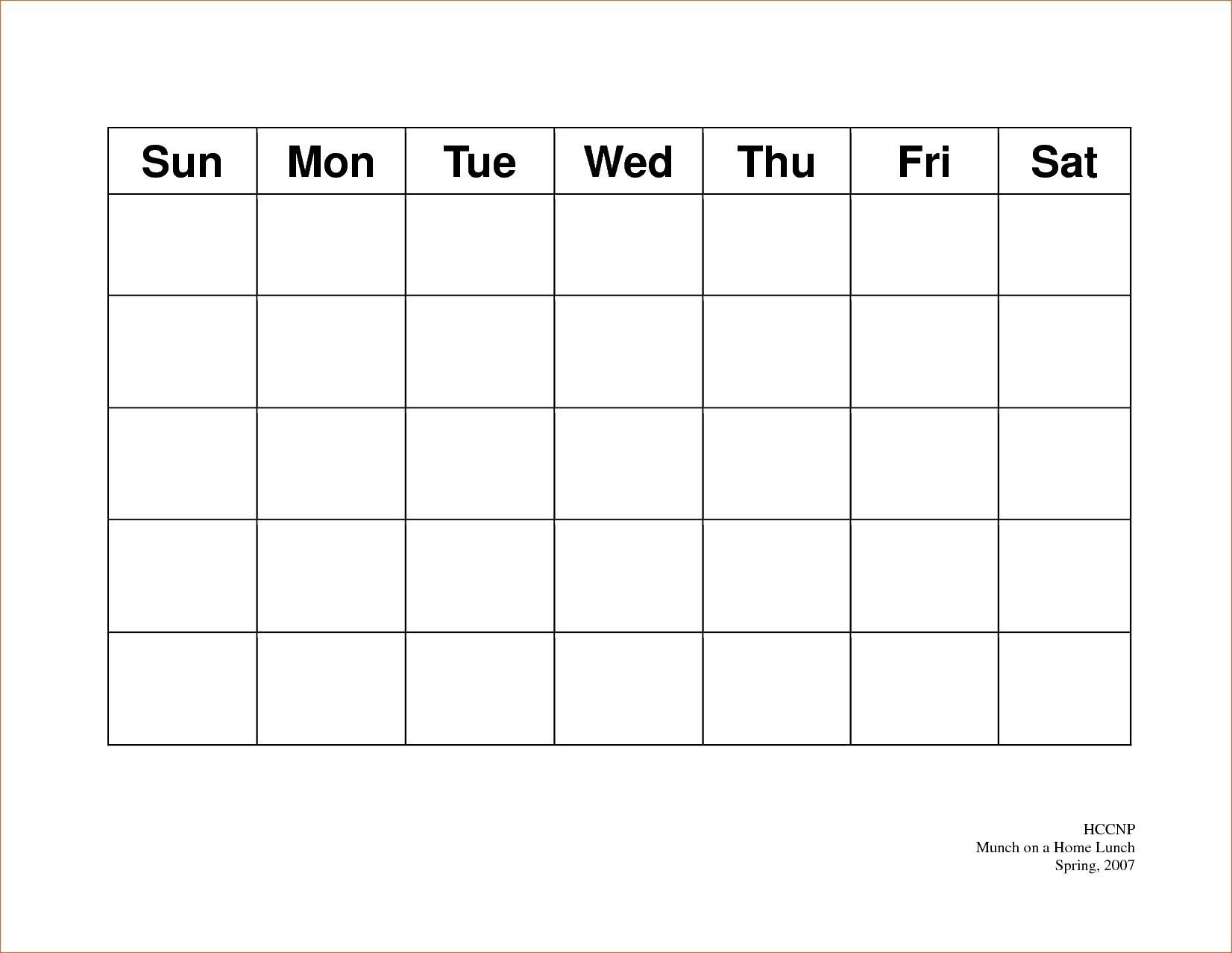 Calendar 5 Day Weekly Calendar Template On 5 Week Calendar 5 Day Calendar Template
