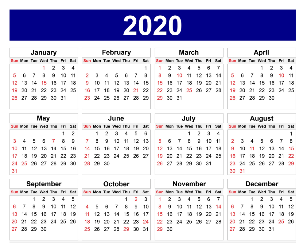 Calendar For 2020 – Edit Your Meeting Date In Box A Calendar That I Can Edit