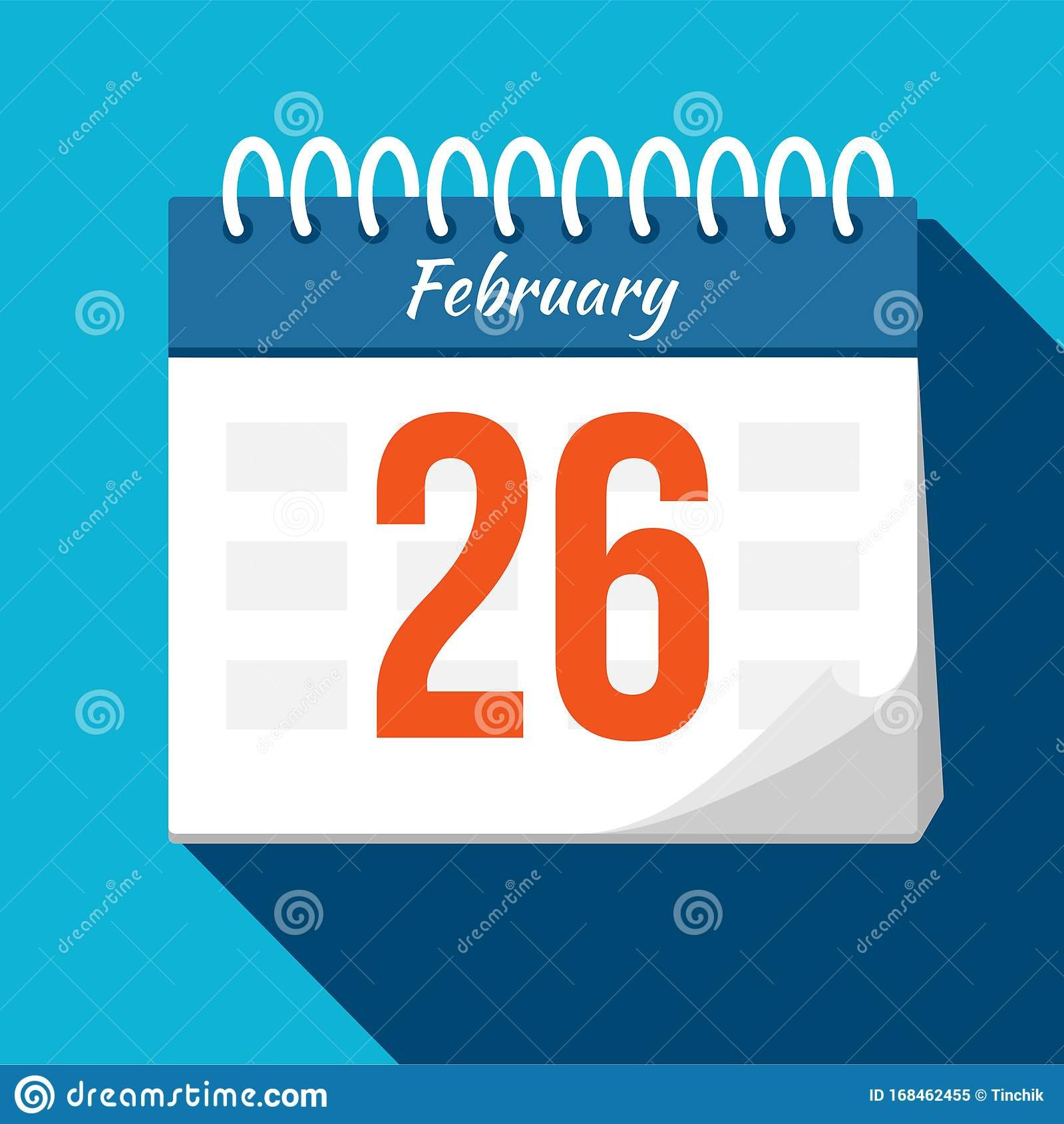 Calendar Icon. Calendar Date - February. Planning. Time Free Calendar For Time Management