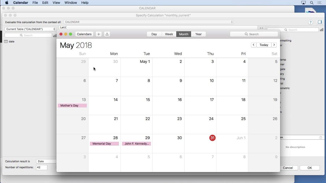 Calendar' In Learning Filemaker | Scoop.it Software Free Calendario Giuliano
