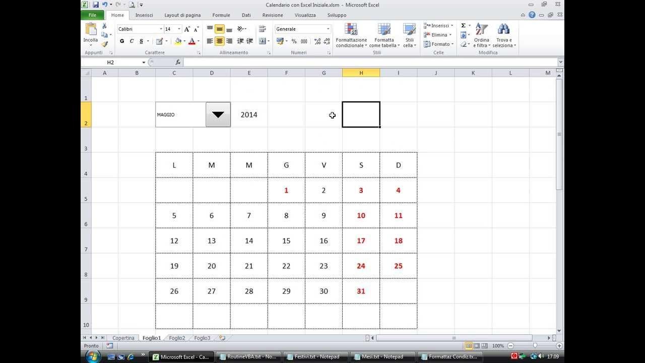 Calendario Automatico Con Excel Software Free Calendario Giuliano