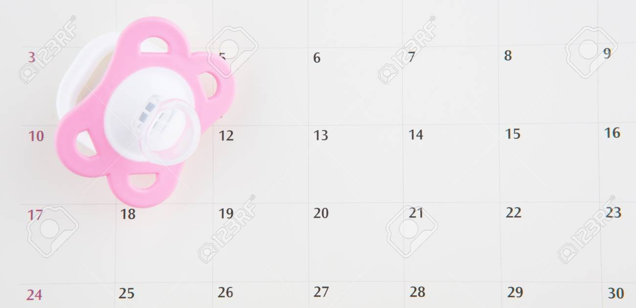 Concept Image Of Baby Girl Pregnancy Delivery Due Date With Calendar.. Free Baby Due Date Calendar