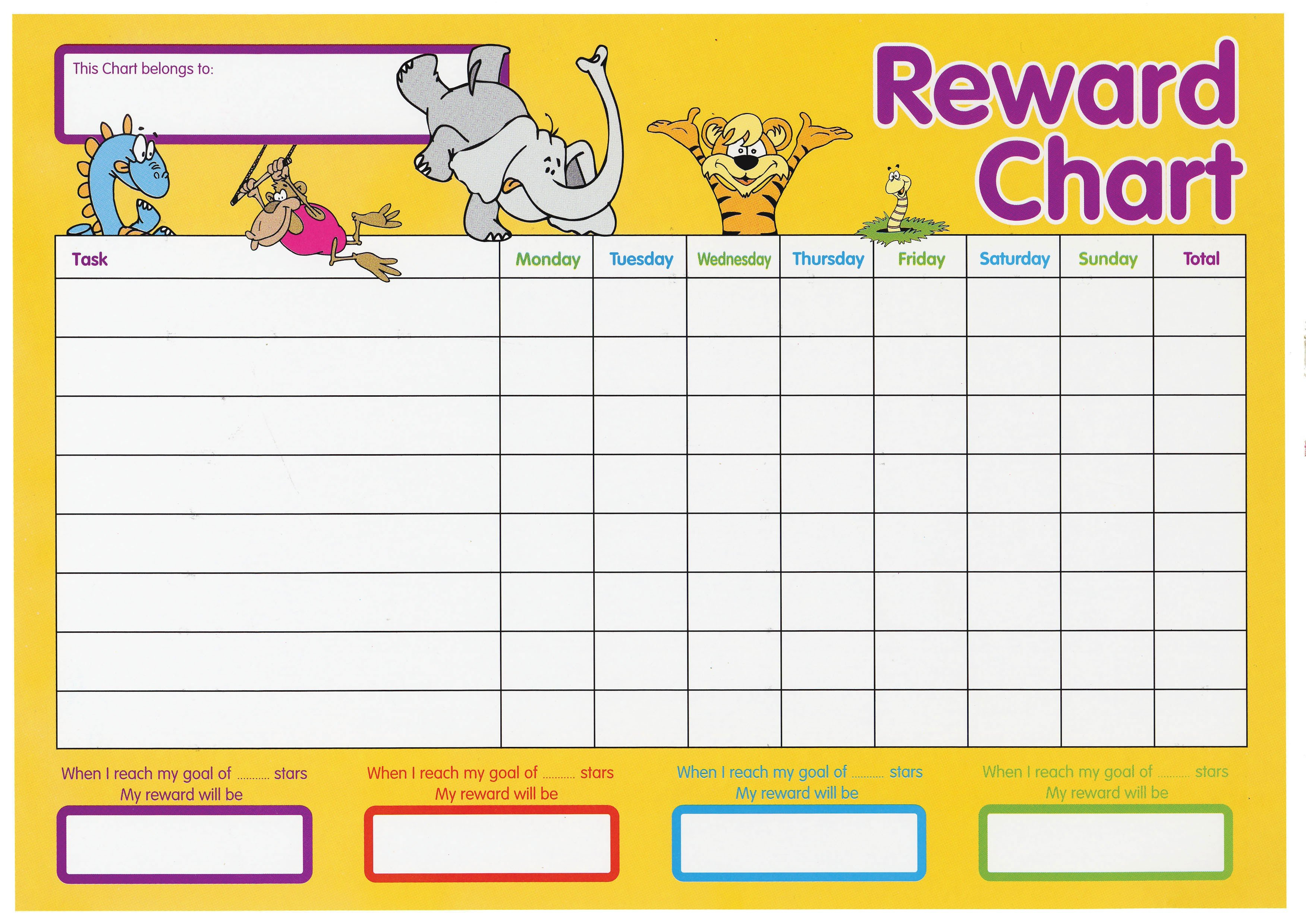 Create Your Own Reward Chart Pack Create A Chart From Monday To Friday