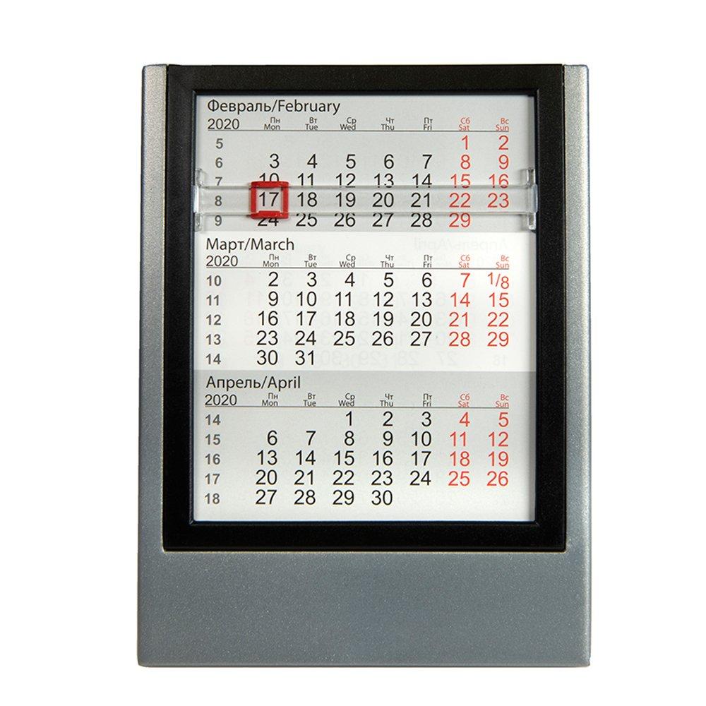 """Календарь Настольный """"9538"""" 2020-2021, Серебристый, Черный Northrop Grumman 9 80 Calendar"""