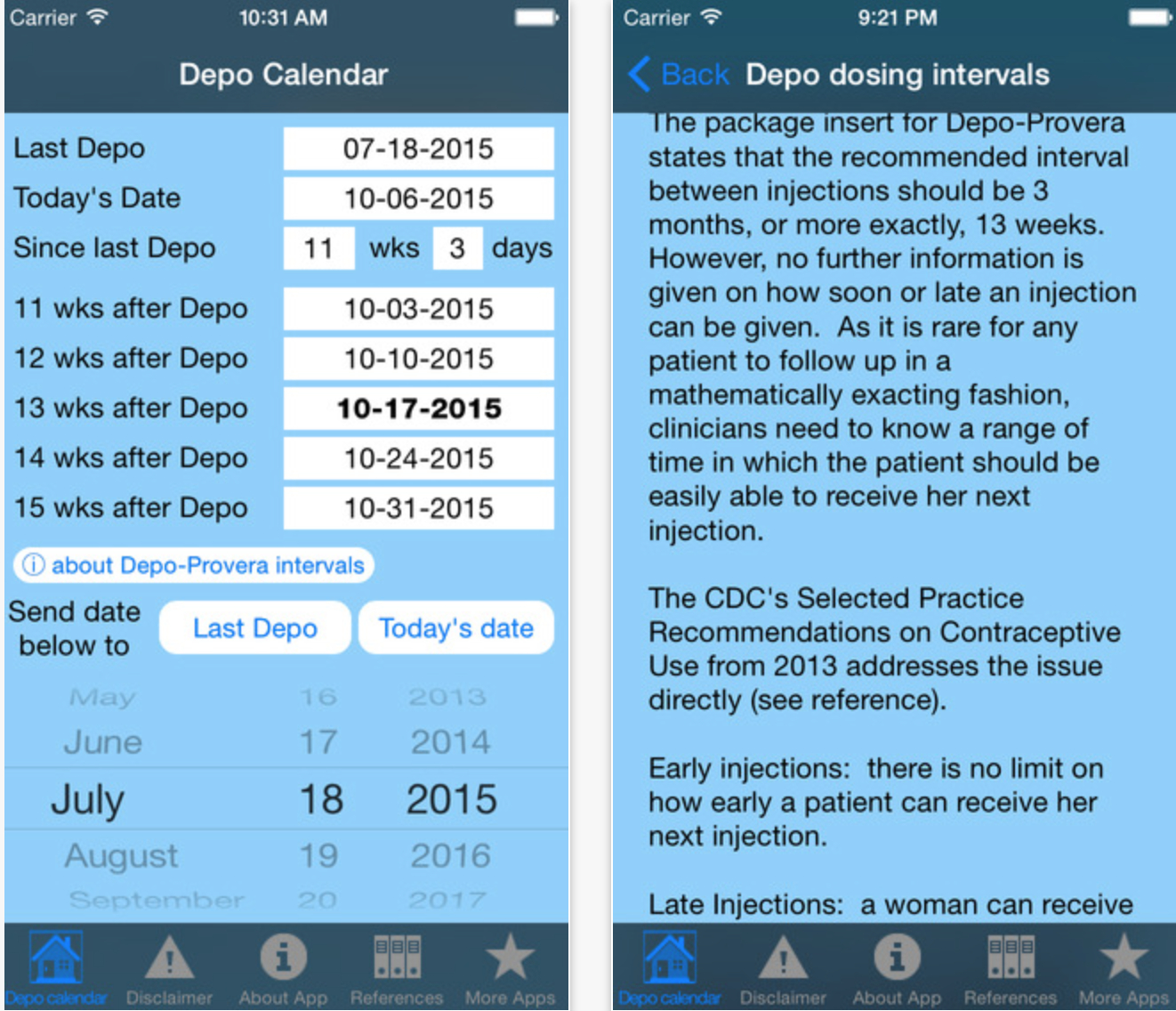 Depo Calendar App Could Significantly Improve Contraception Depo Shot Date Calculator