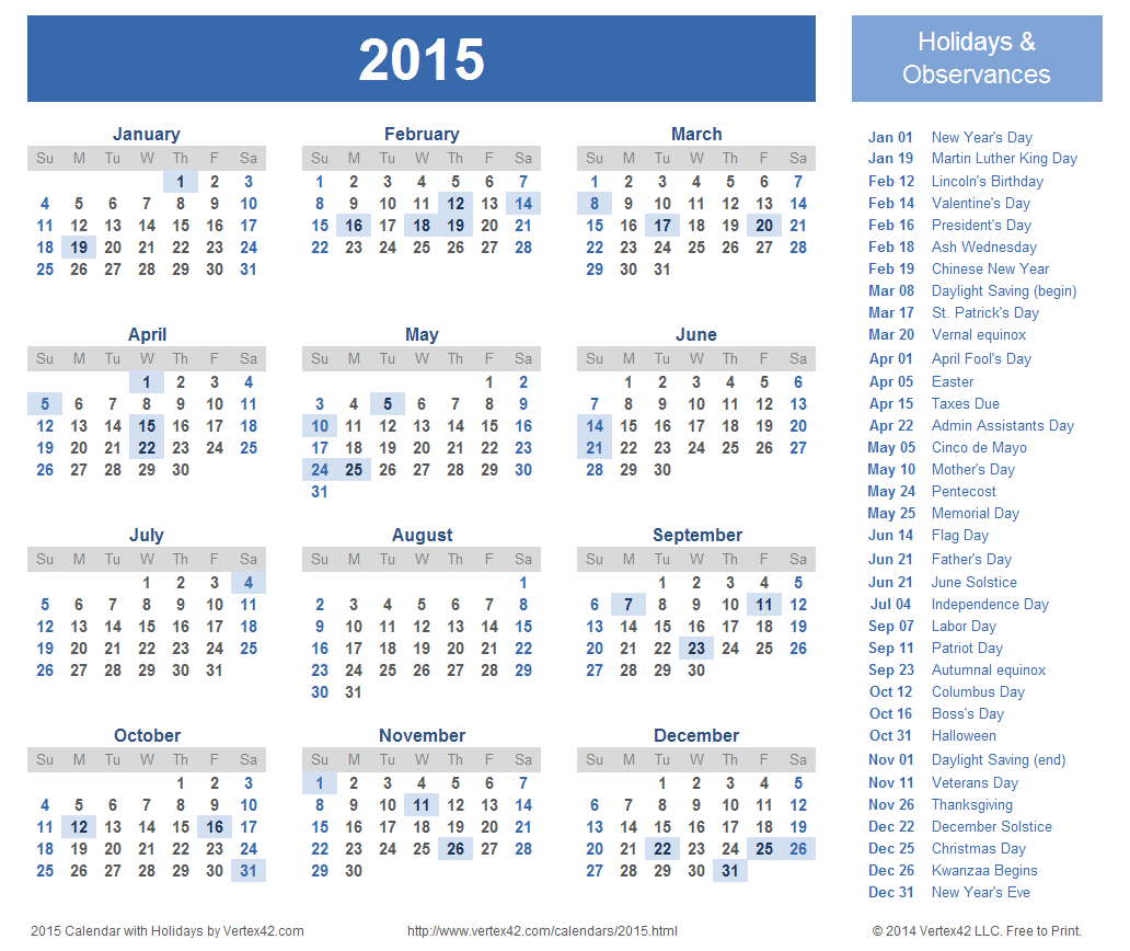 Download Free Printable 2015 Calendar Templates That You Can Free Weekly Calander That You Can Edit