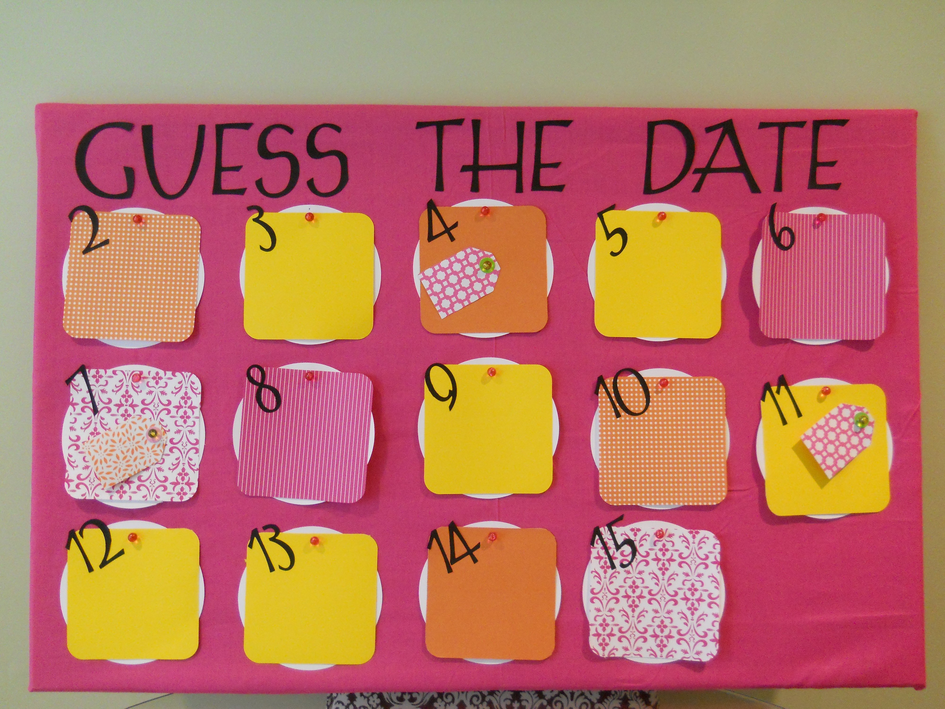 Due Date Calendar | {Party Me Perfect} Guess The Due Date Calendar