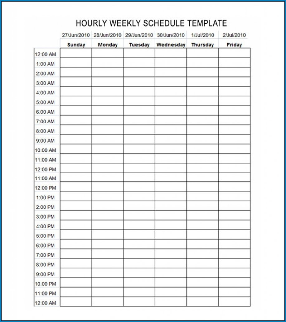 √ Free Editable Schedule Template Hourly | Templateral Daily Hourly Schedule Template Free