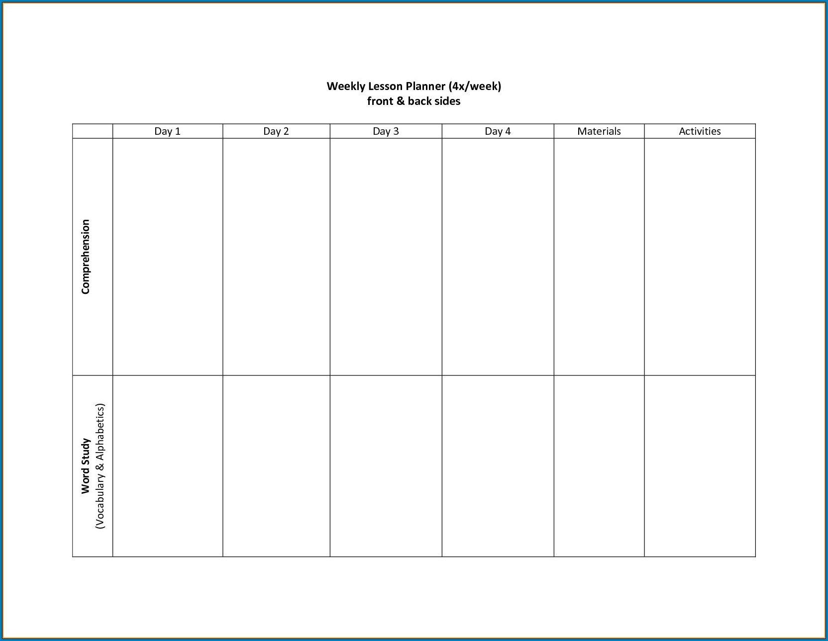√ Free Printable 2 Week Calendar Template | Templateral 2 Week Schedule Word Template