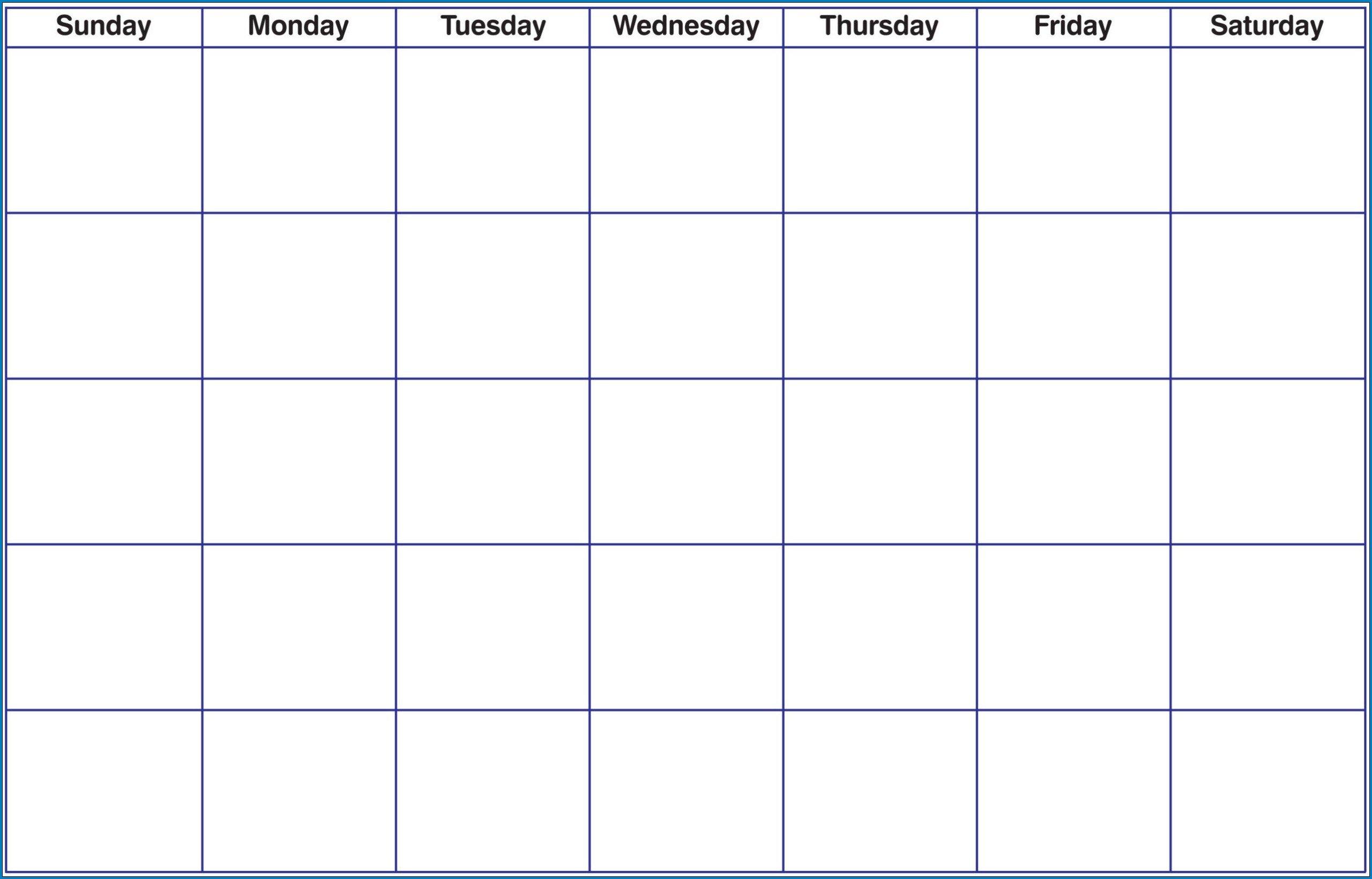 √ Free Printable Blank Monthly Calendar Template | Templateral Fill In Monthly Calendar Printable