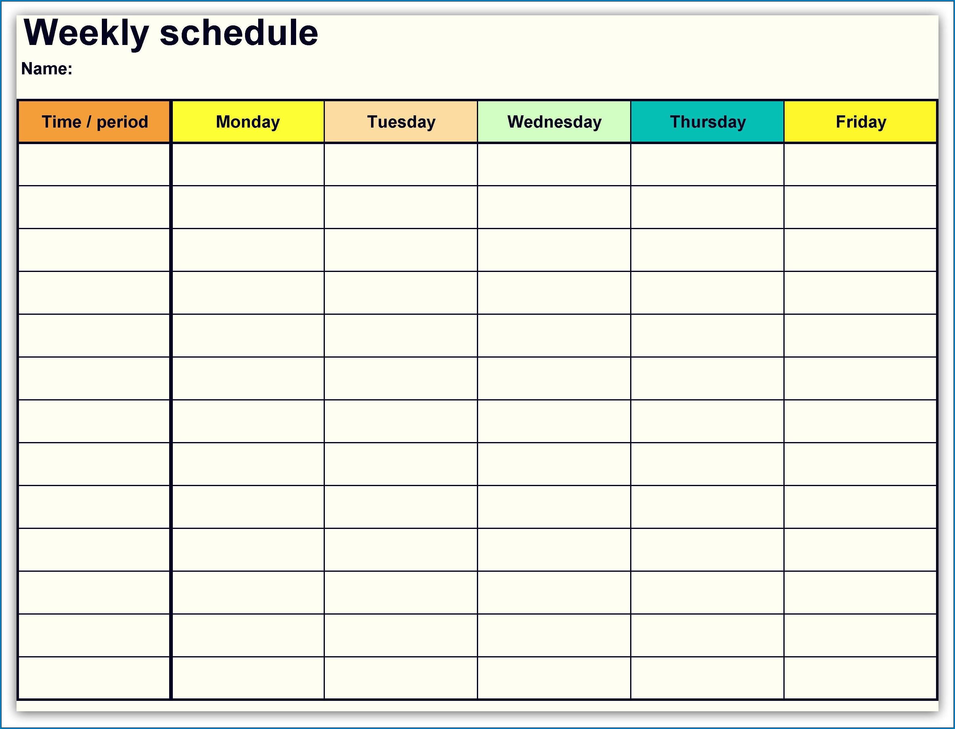 √ Free Printable Weekly Calendar Template | Templateral Printable One Week Calendar Free