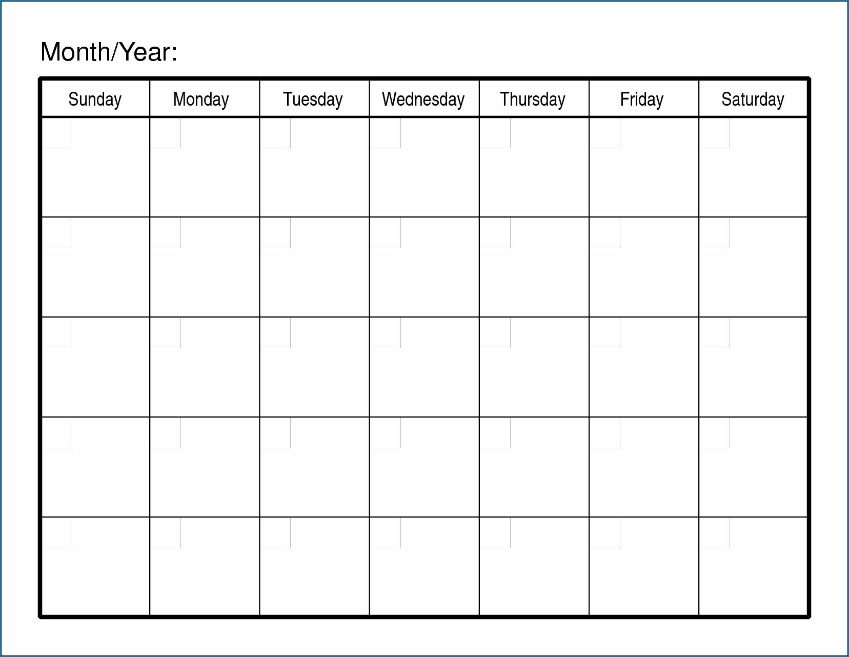 ✓ Free Printable Blank Monthly Calendar Template | Zitemplate Fill In Monthly Calendar Printable