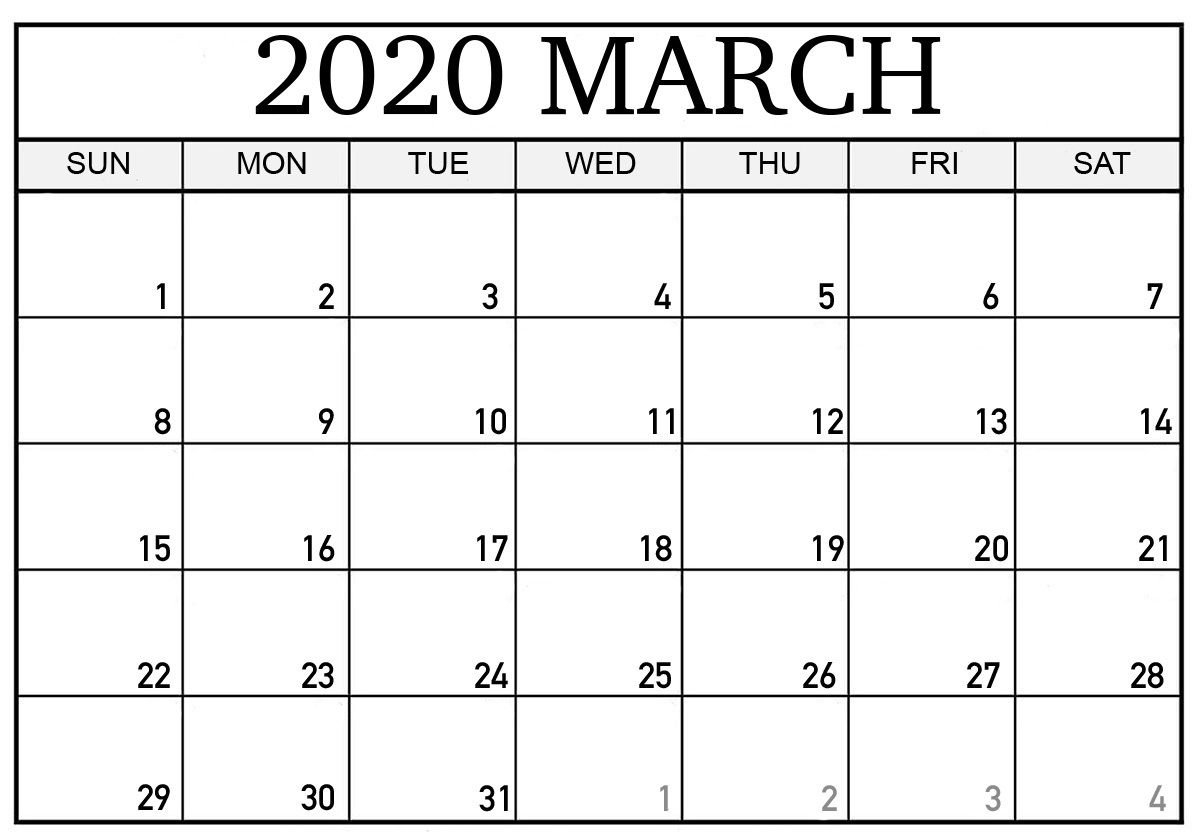 Editable March 2020 Calendar To Print Pdf Word Blank Blank Calendar I Can Edit And Print