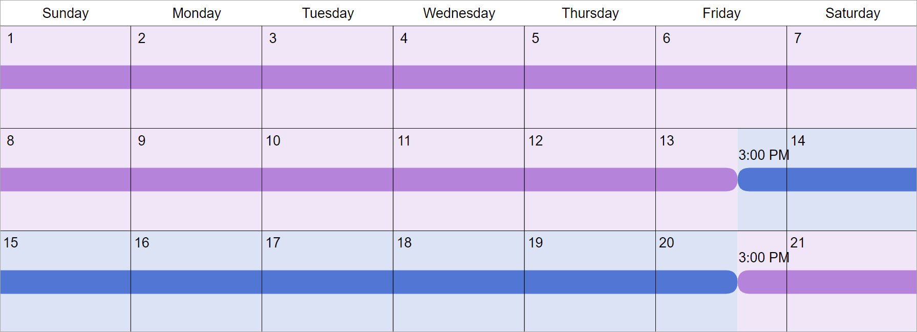 Every 3Rd Week Custody & Visitation Schedule Examples How To A Make A Two Week Schedule