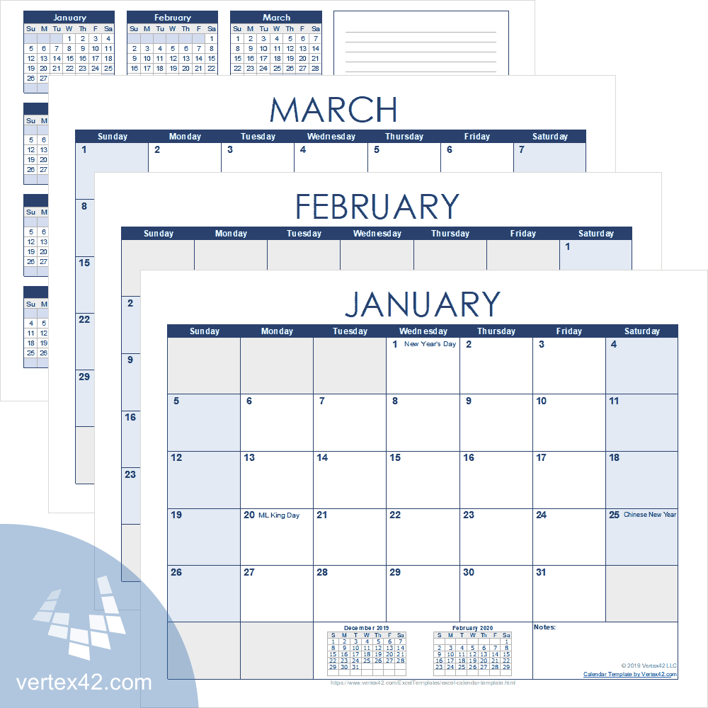Excel Calendar Template For 2020 And Beyond Annual Training Calendar Template Excel