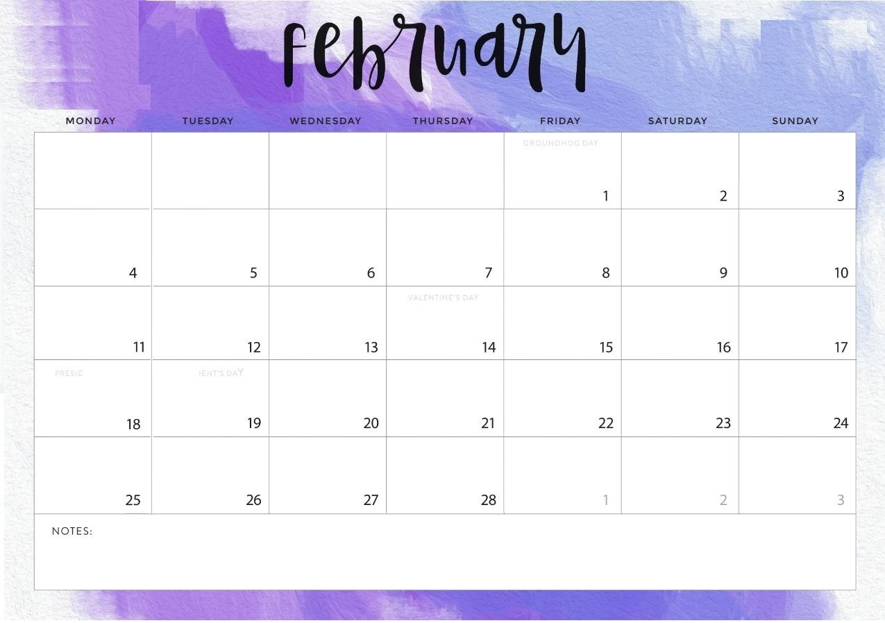 February 2019 Calendar Word | Календарь Для Печати Fre Fill In Online Calendars